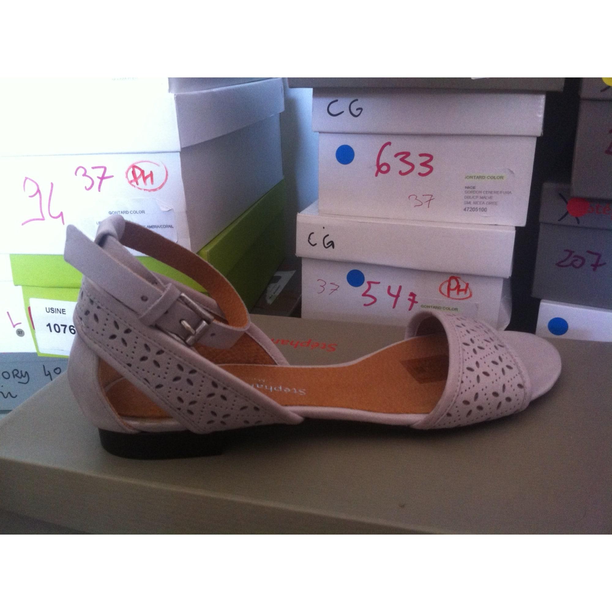 Sandales plates  STÉPHANE GONTARD Gris, anthracite
