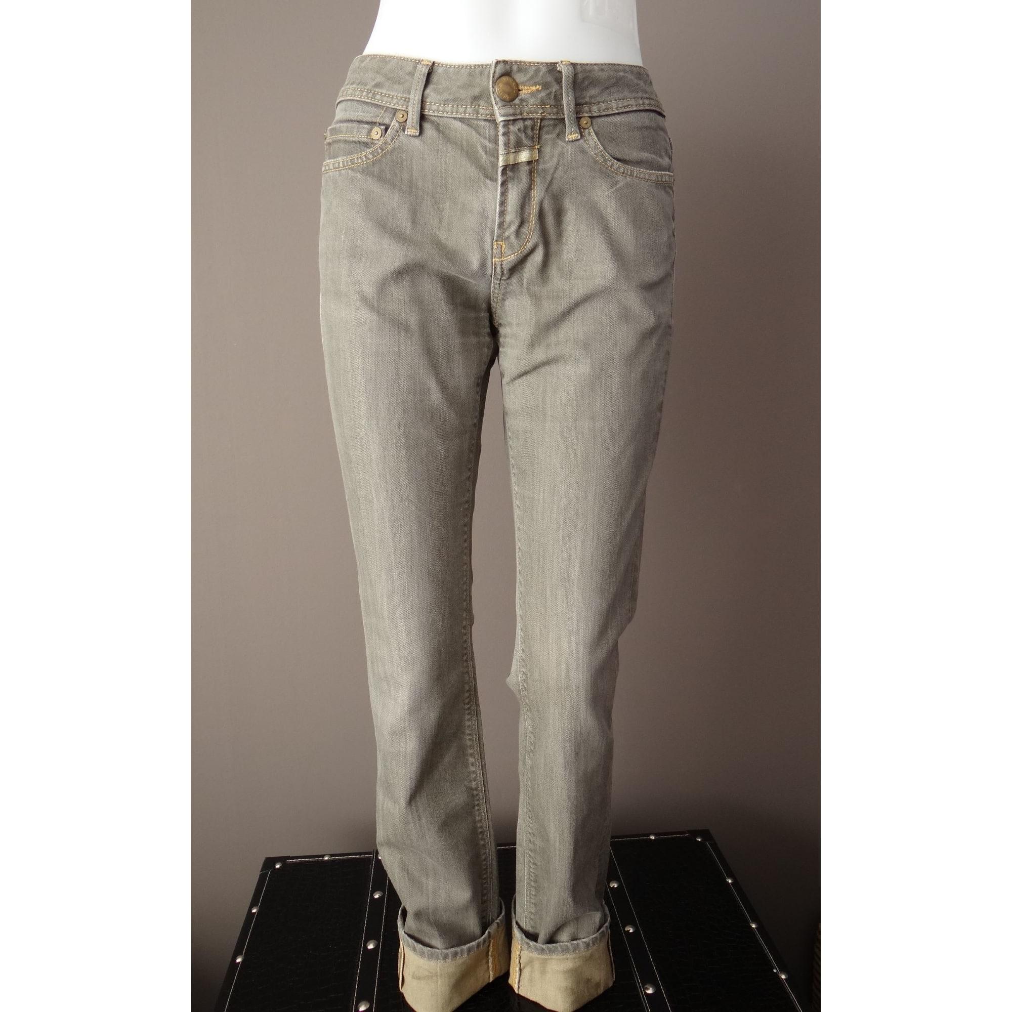 Jeans droit CLOSED Gris, anthracite