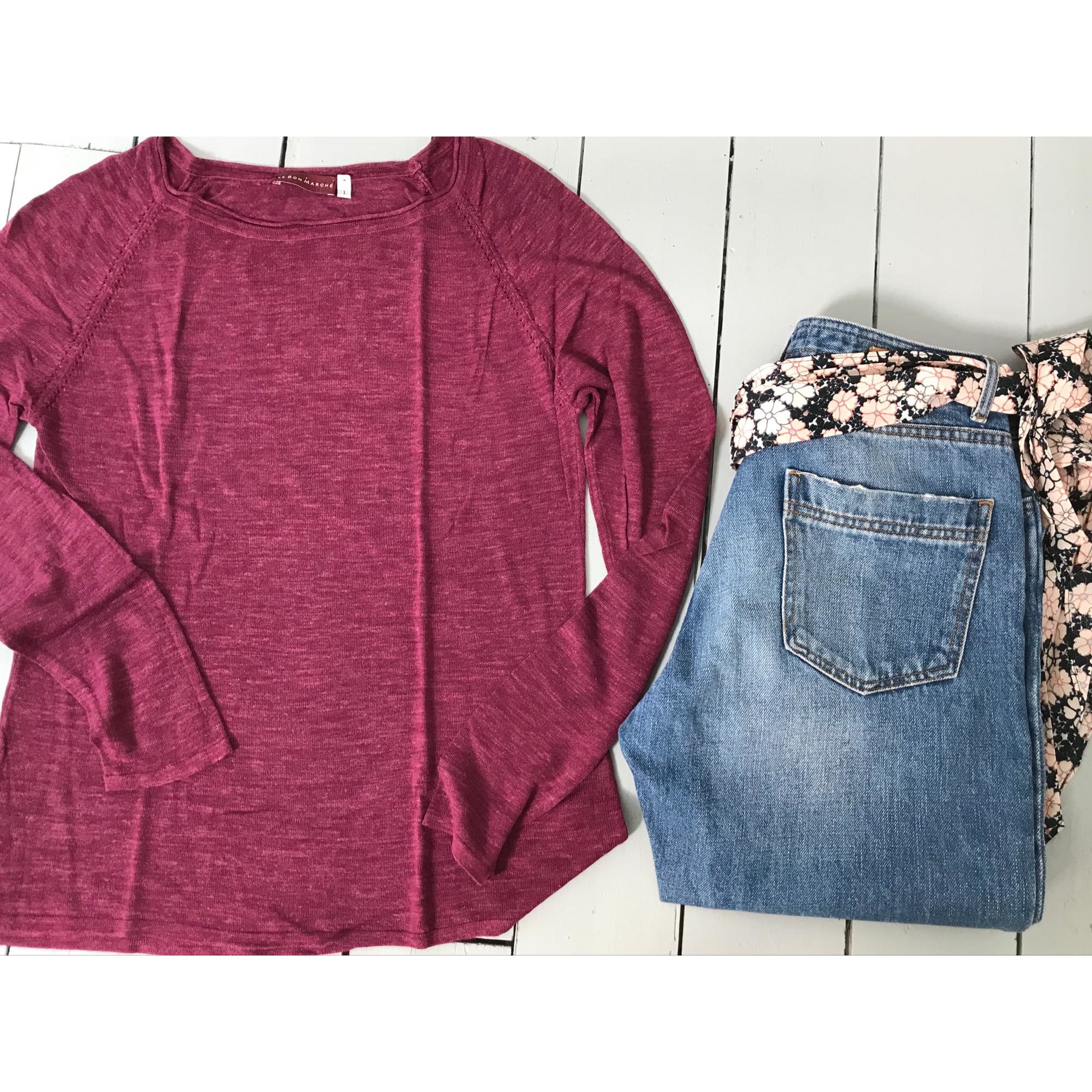 Top, tee-shirt LE BON MARCHÉ Rose, fuschia, vieux rose