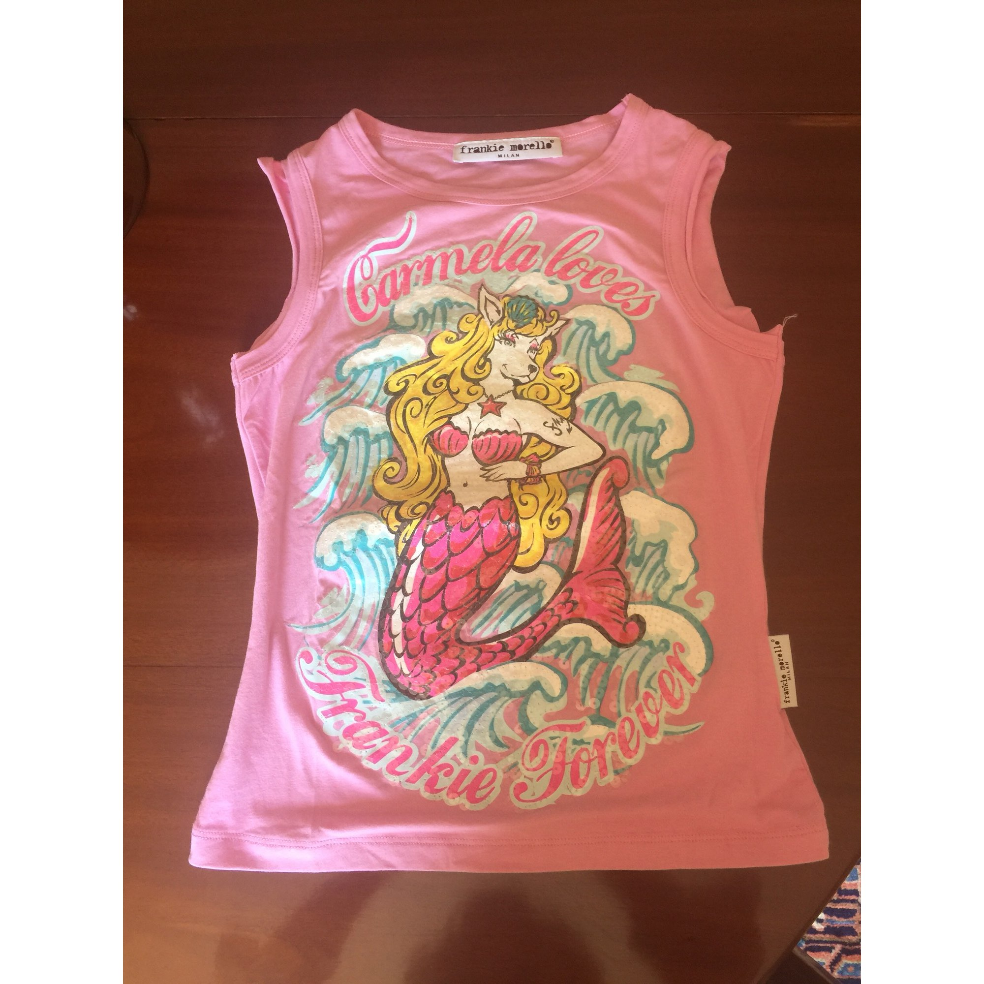 Top, tee-shirt FRANKIE MORELLO Rose, fuschia, vieux rose
