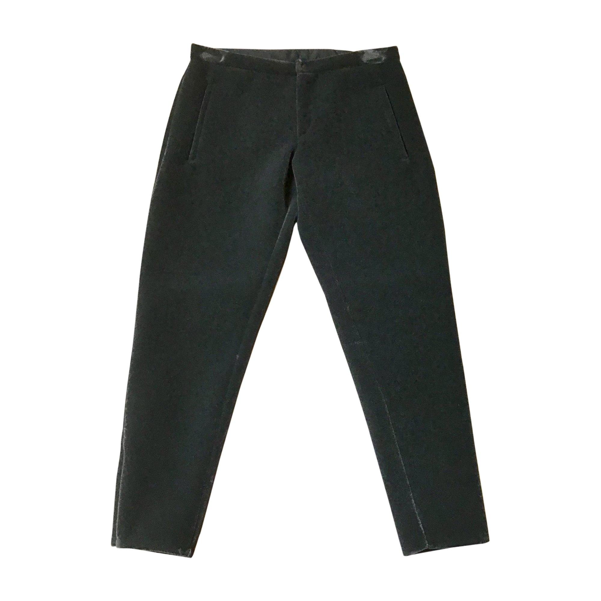 Pantalon droit EMPORIO ARMANI Gris, anthracite