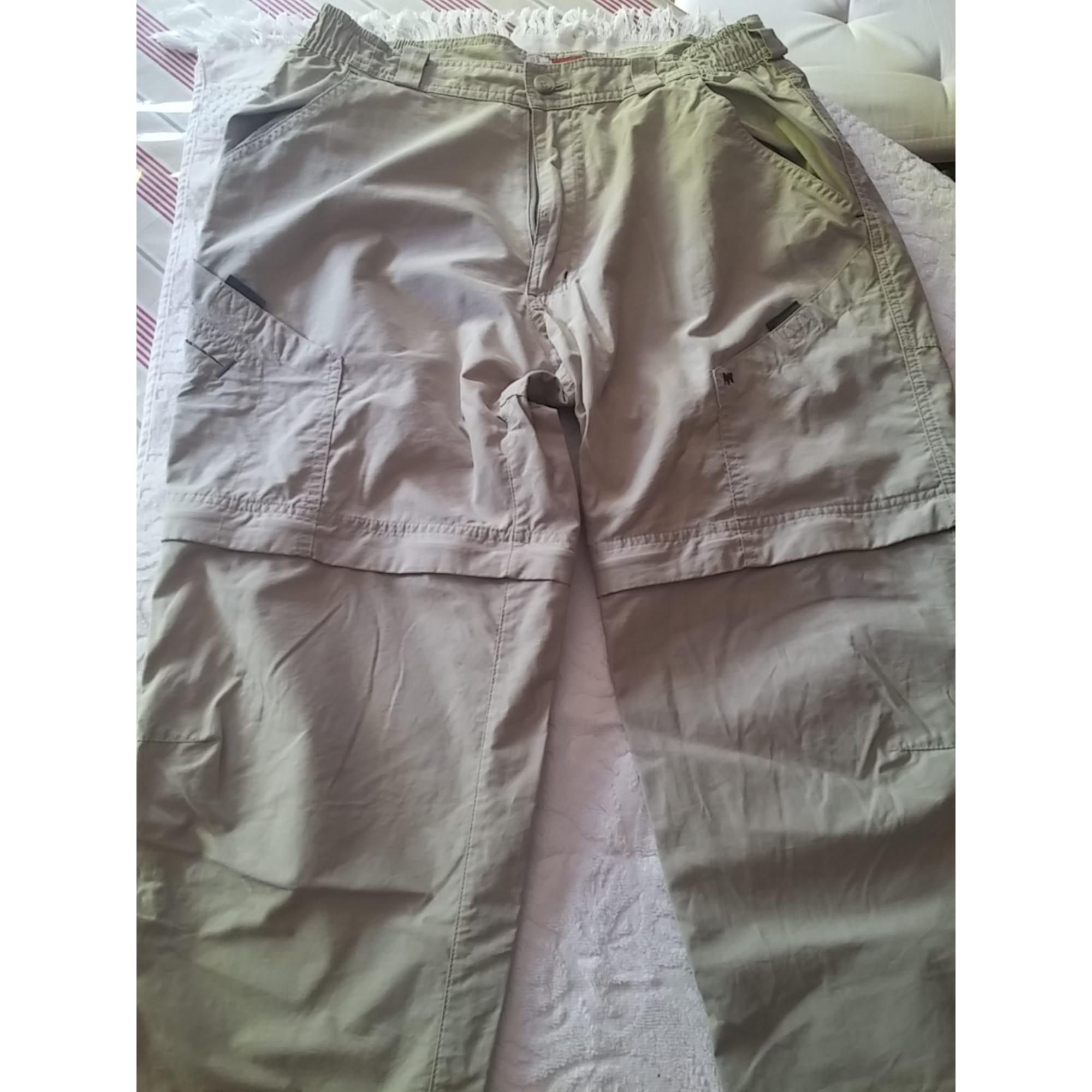 Pantalon droit QUECHUA Beige, camel