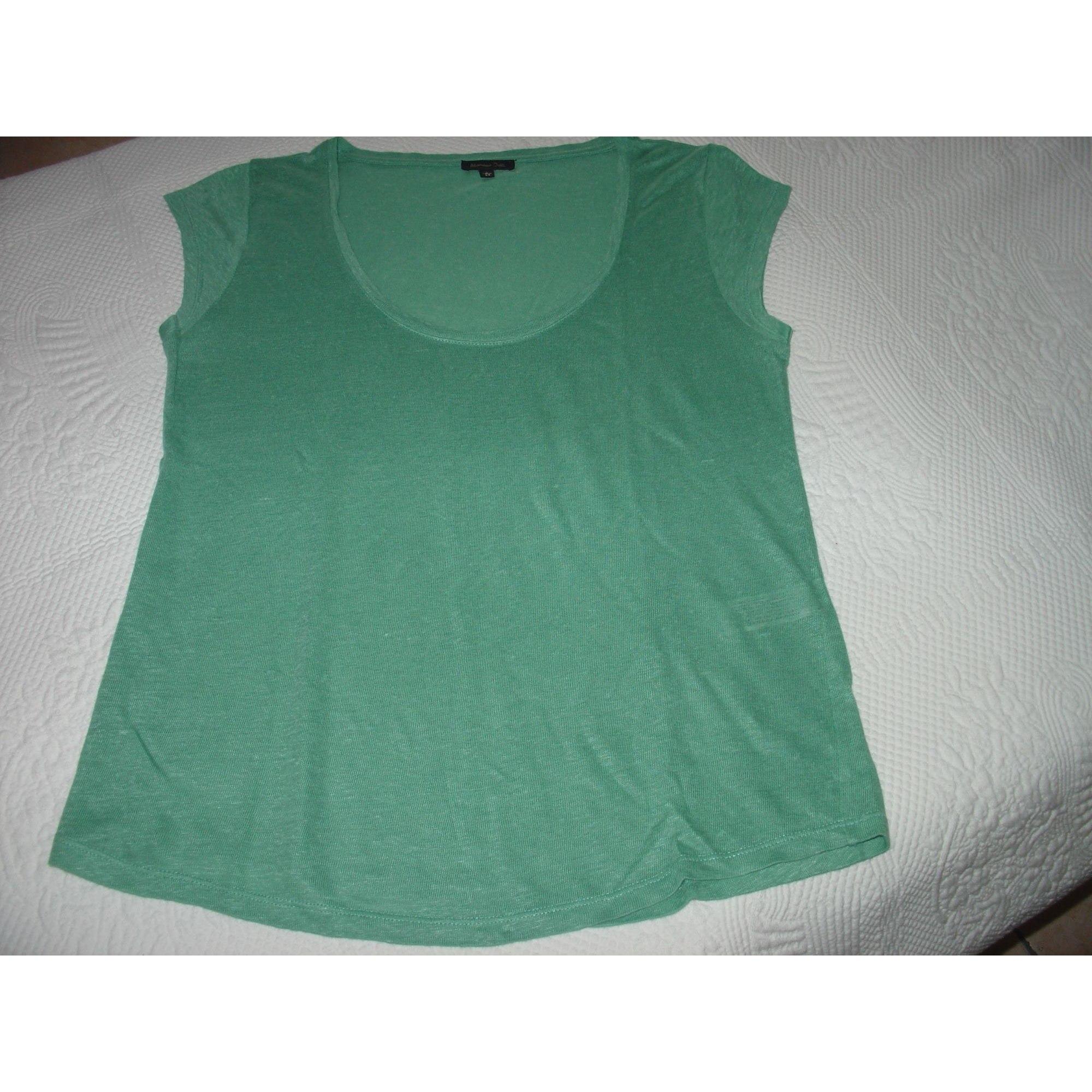 Top, tee-shirt MASSIMO DUTTI Vert
