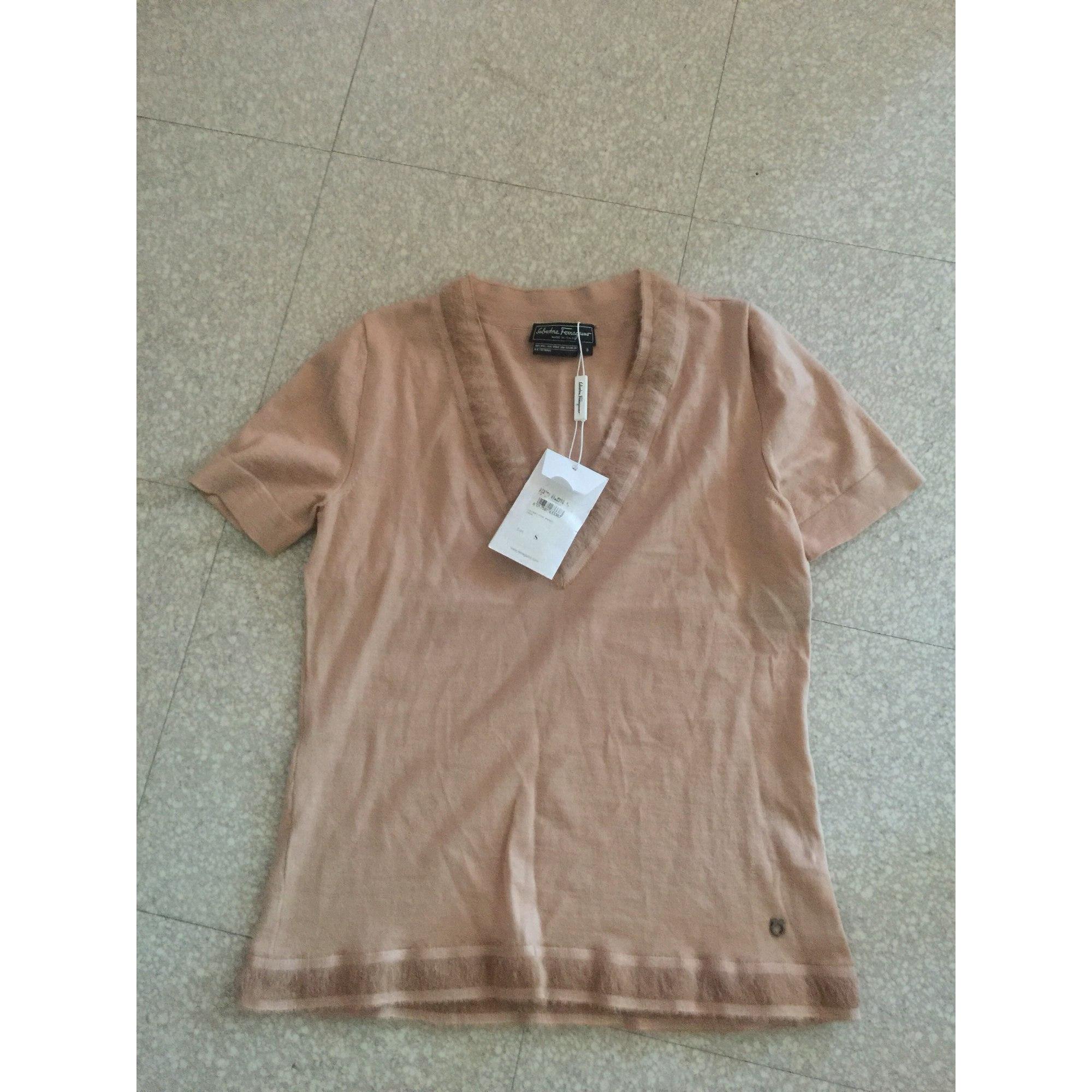 Top, tee-shirt SALVATORE FERRAGAMO Beige, camel
