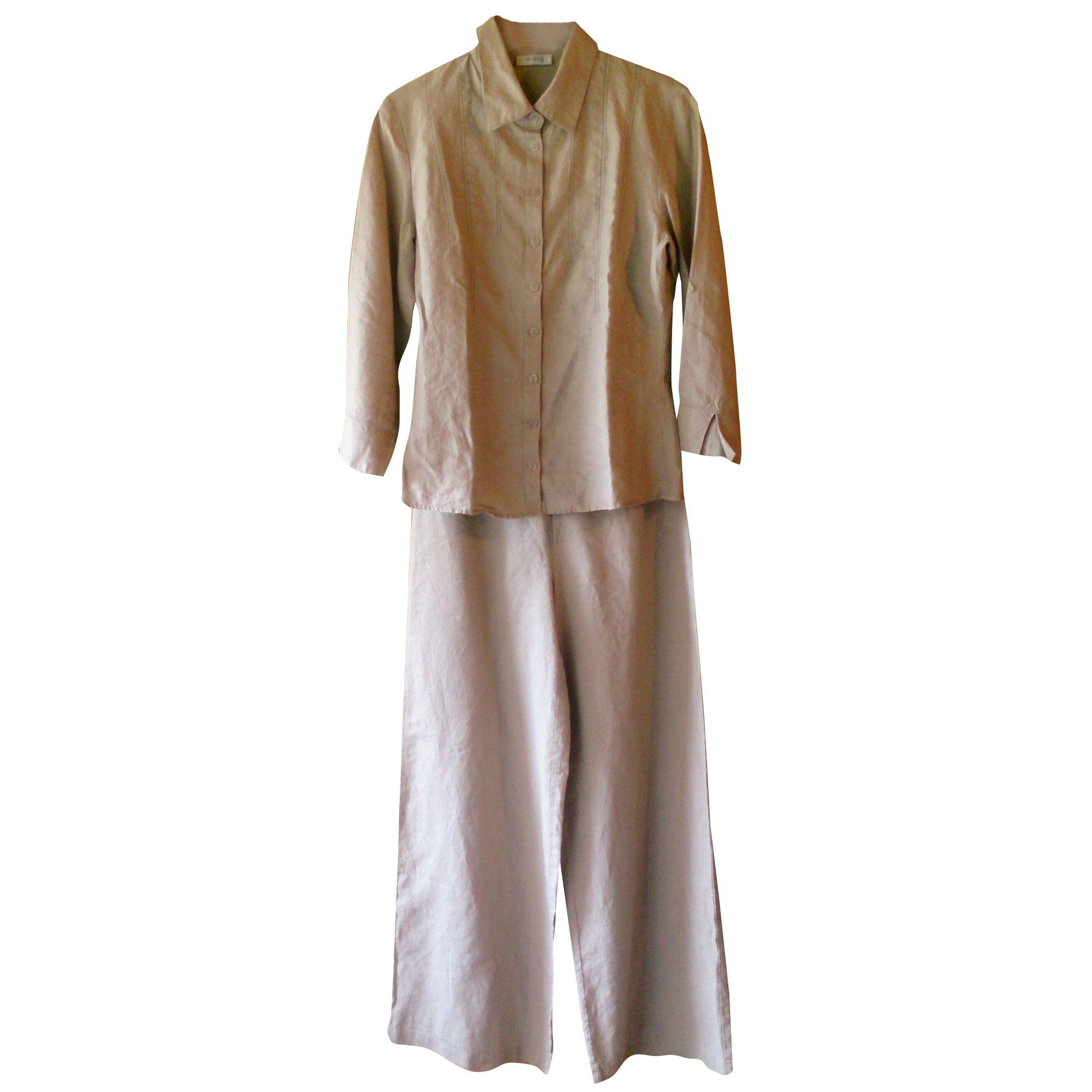 Tailleur pantalon 1.2.3 Blanc, blanc cassé, écru