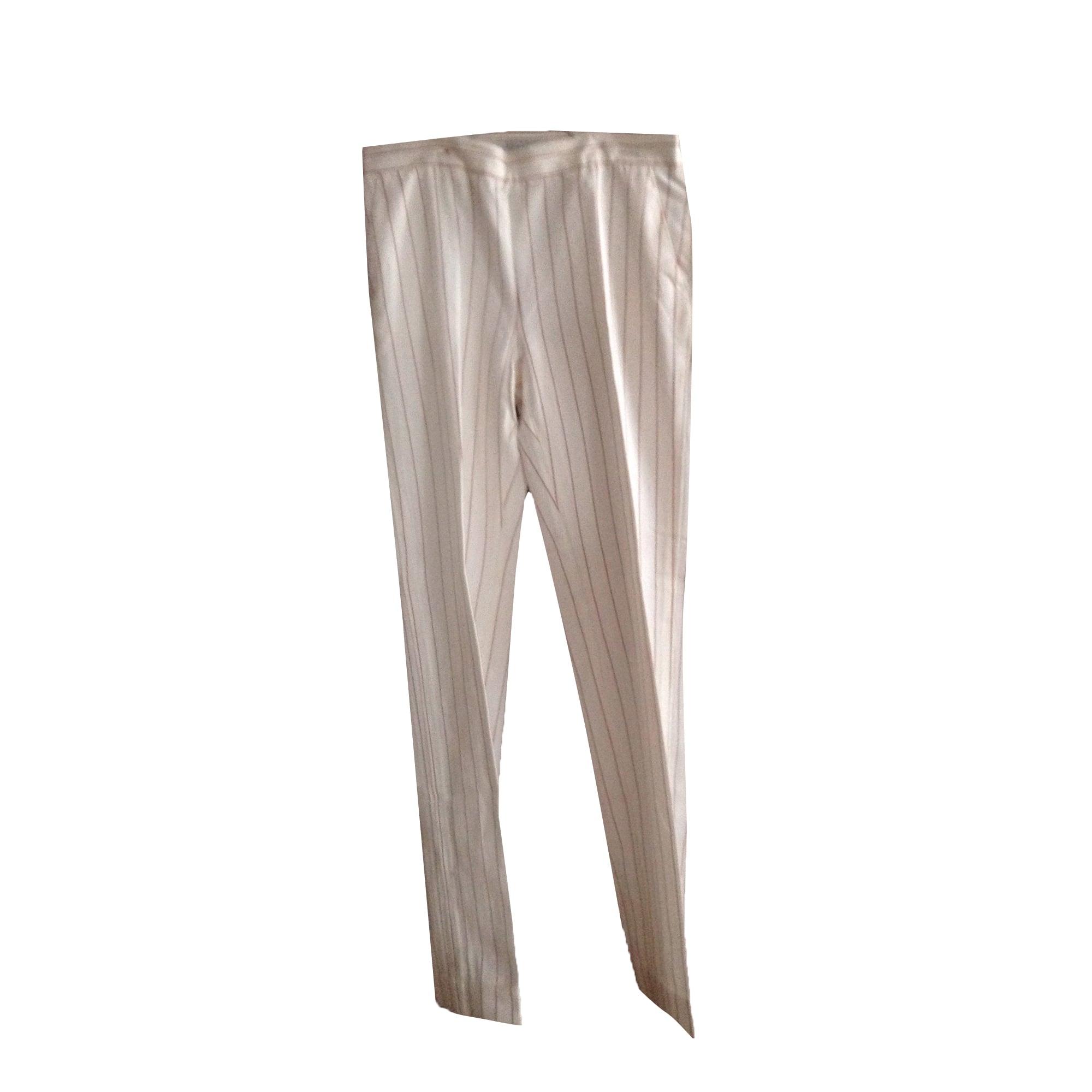 Pantalon droit MAX MARA Blanc, blanc cassé, écru