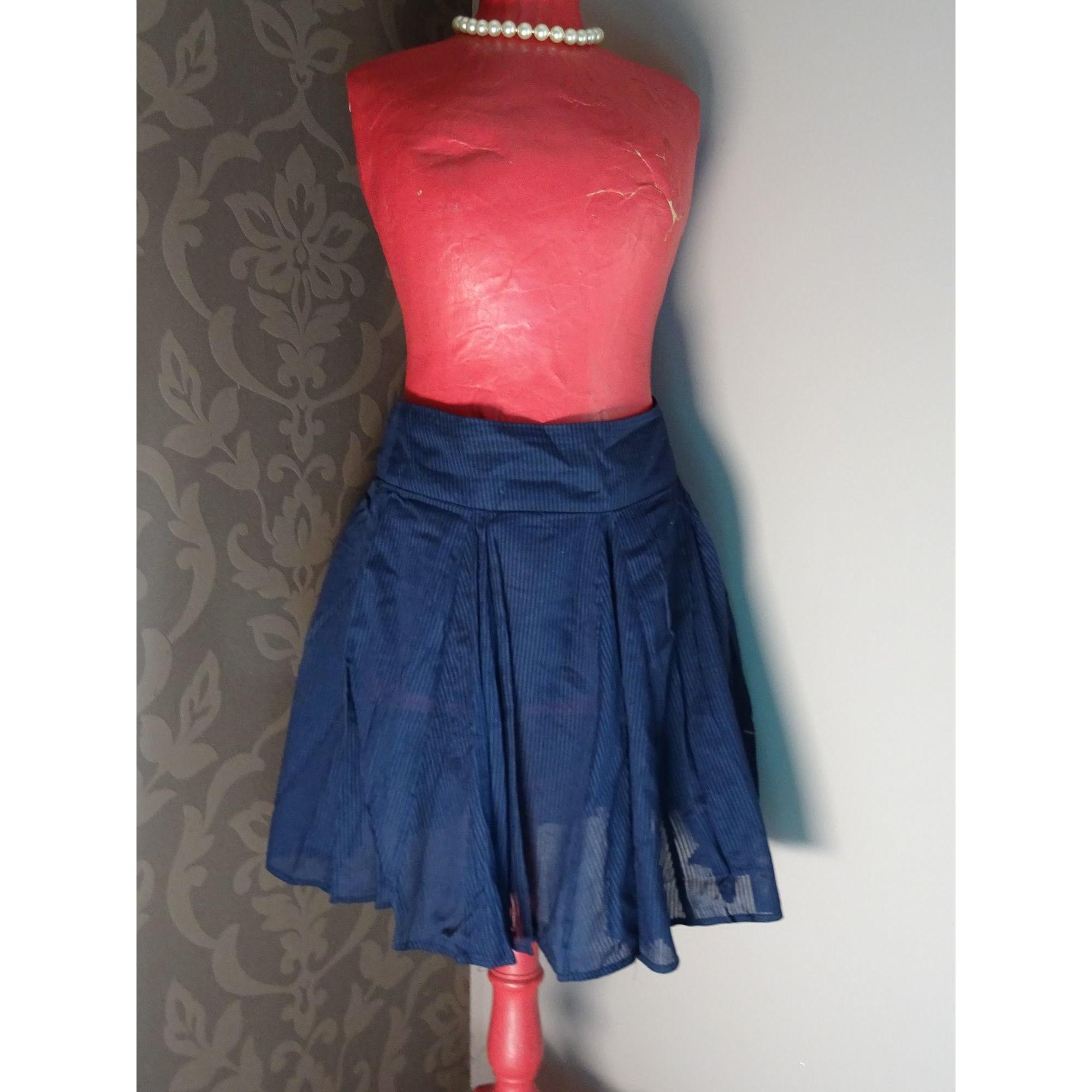 Jupe mi-longue BNK Bleu, bleu marine, bleu turquoise