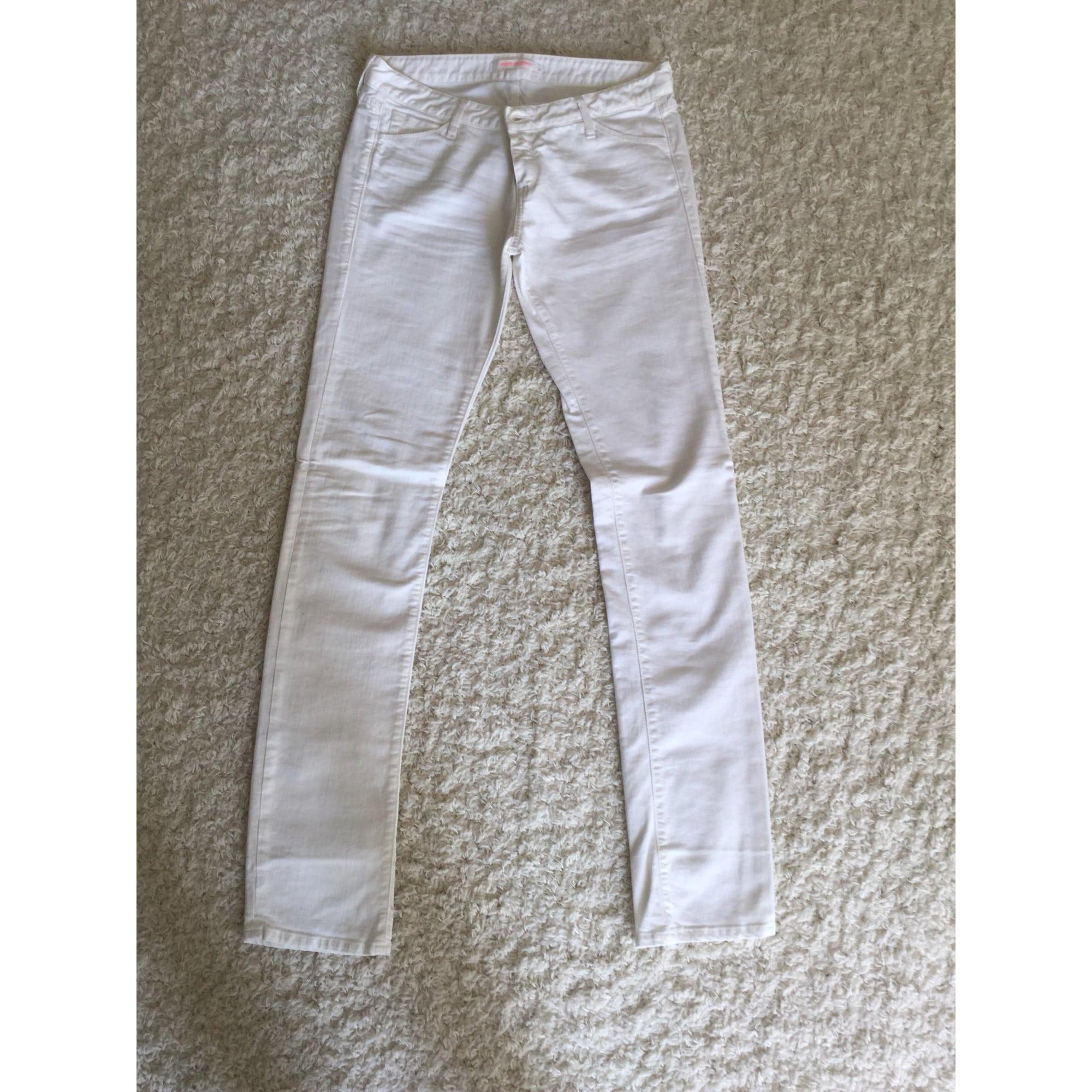 Jeans droit VIRGINIE CASTAWAY Blanc, blanc cassé, écru