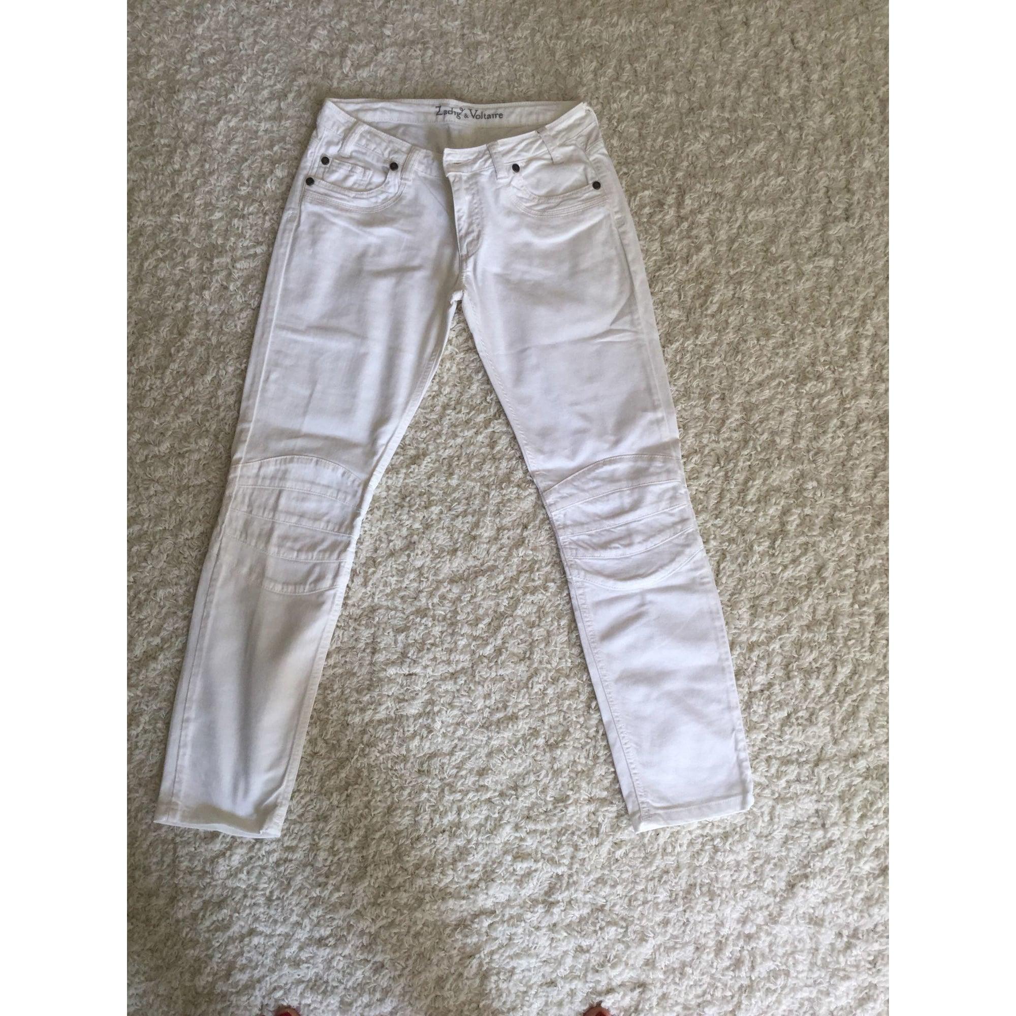 Jeans slim ZADIG & VOLTAIRE Blanc, blanc cassé, écru