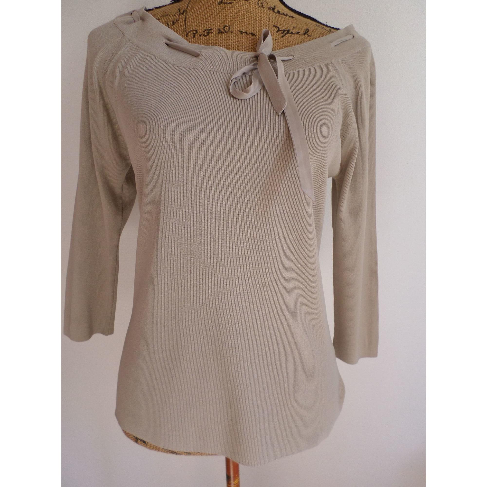 Top, tee-shirt CAROLL Beige, camel