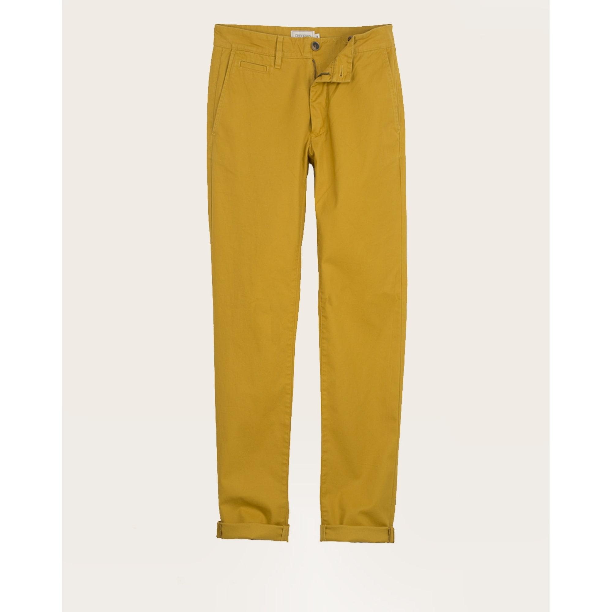 Pantalon droit CHEVIGNON Jaune