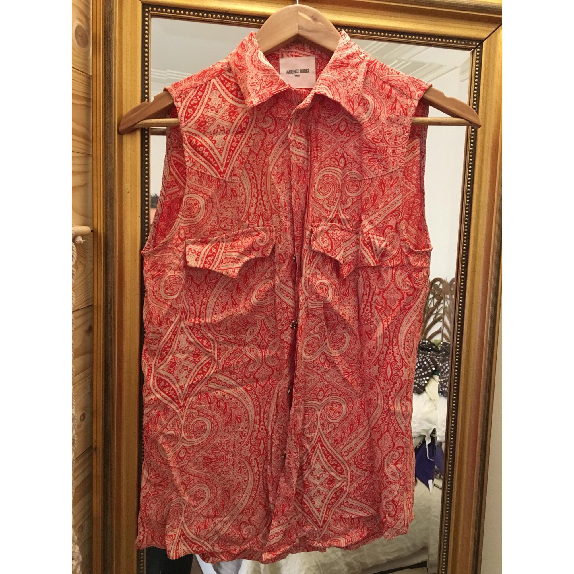 Top, tee-shirt LAURENCE DOLIGÉ Rouge, bordeaux