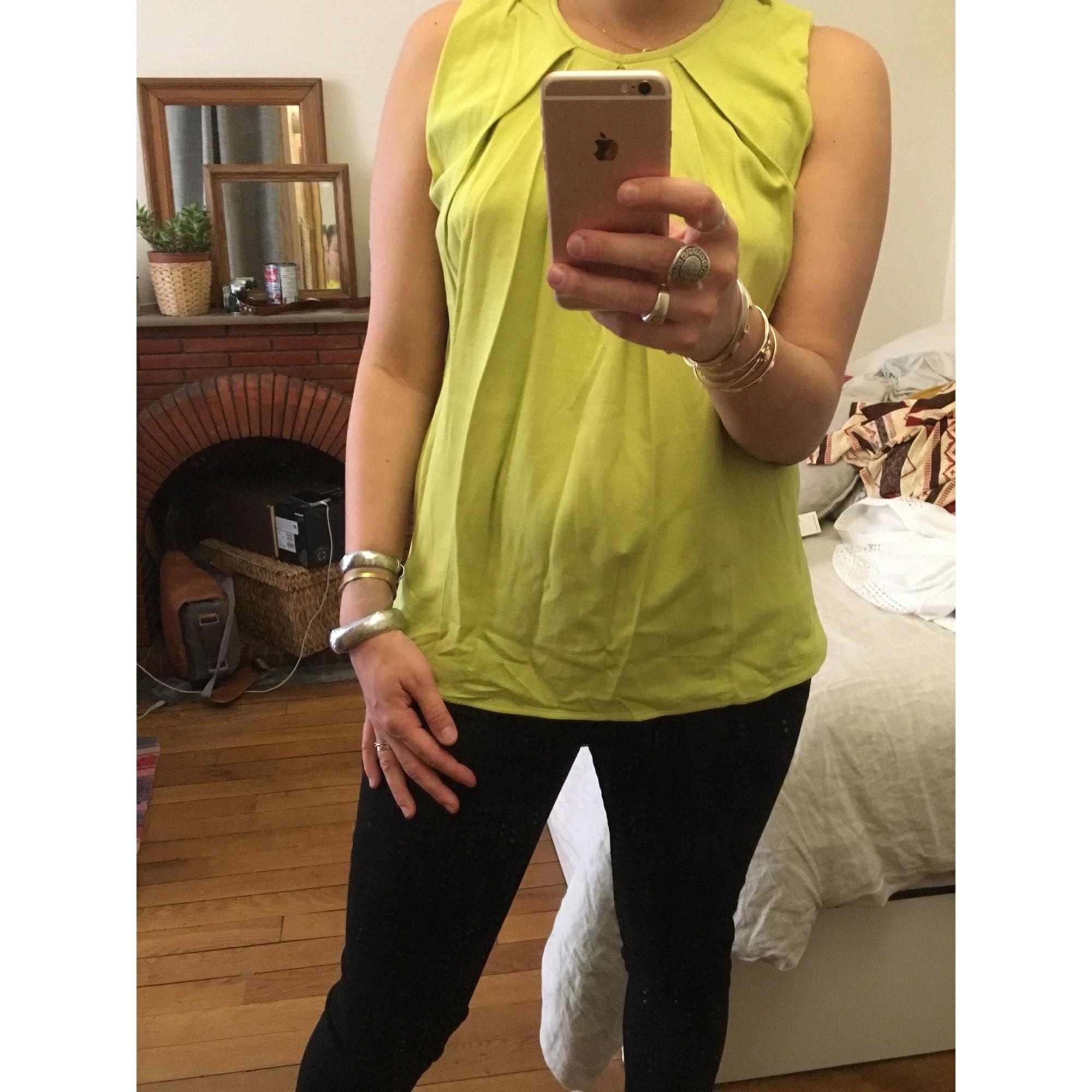 Top, tee-shirt LAURENCE DOLIGÉ Vert anis