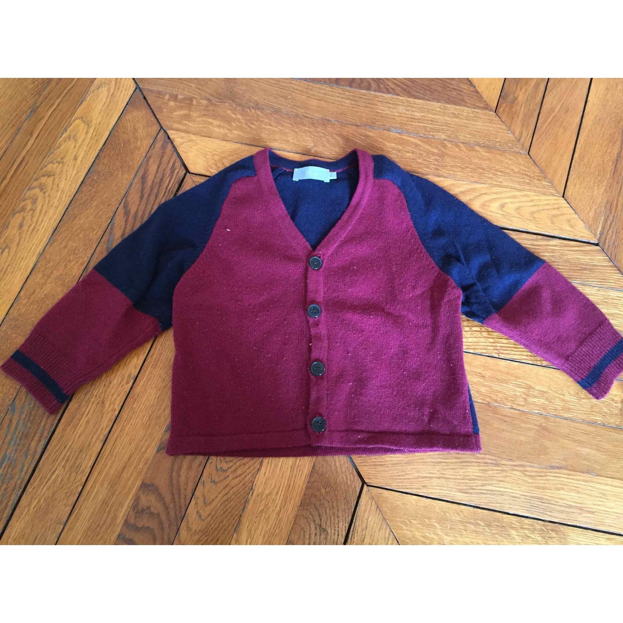Vest, Cardigan BABY DIOR Red, burgundy