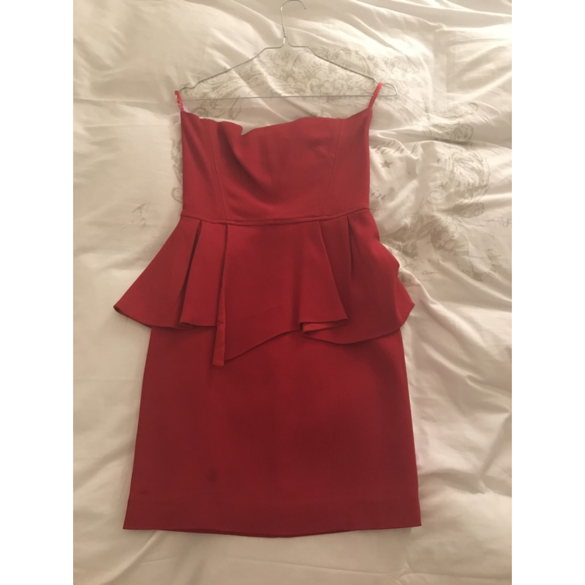 Robe mi-longue THE KOOPLES Rouge, bordeaux