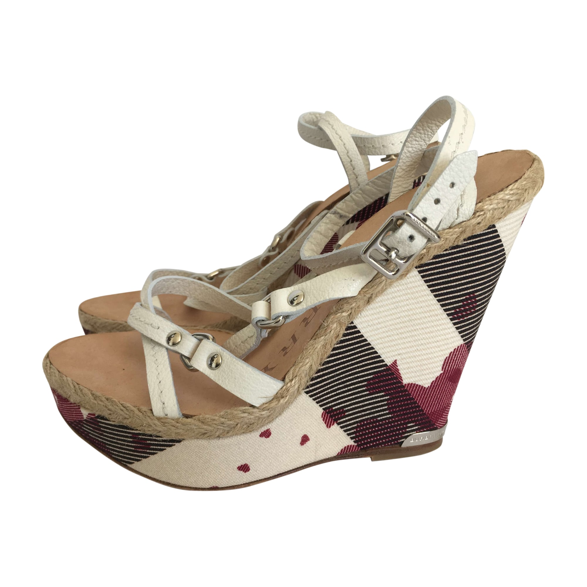 Wedge Sandals BURBERRY 37,5 white - 7931742