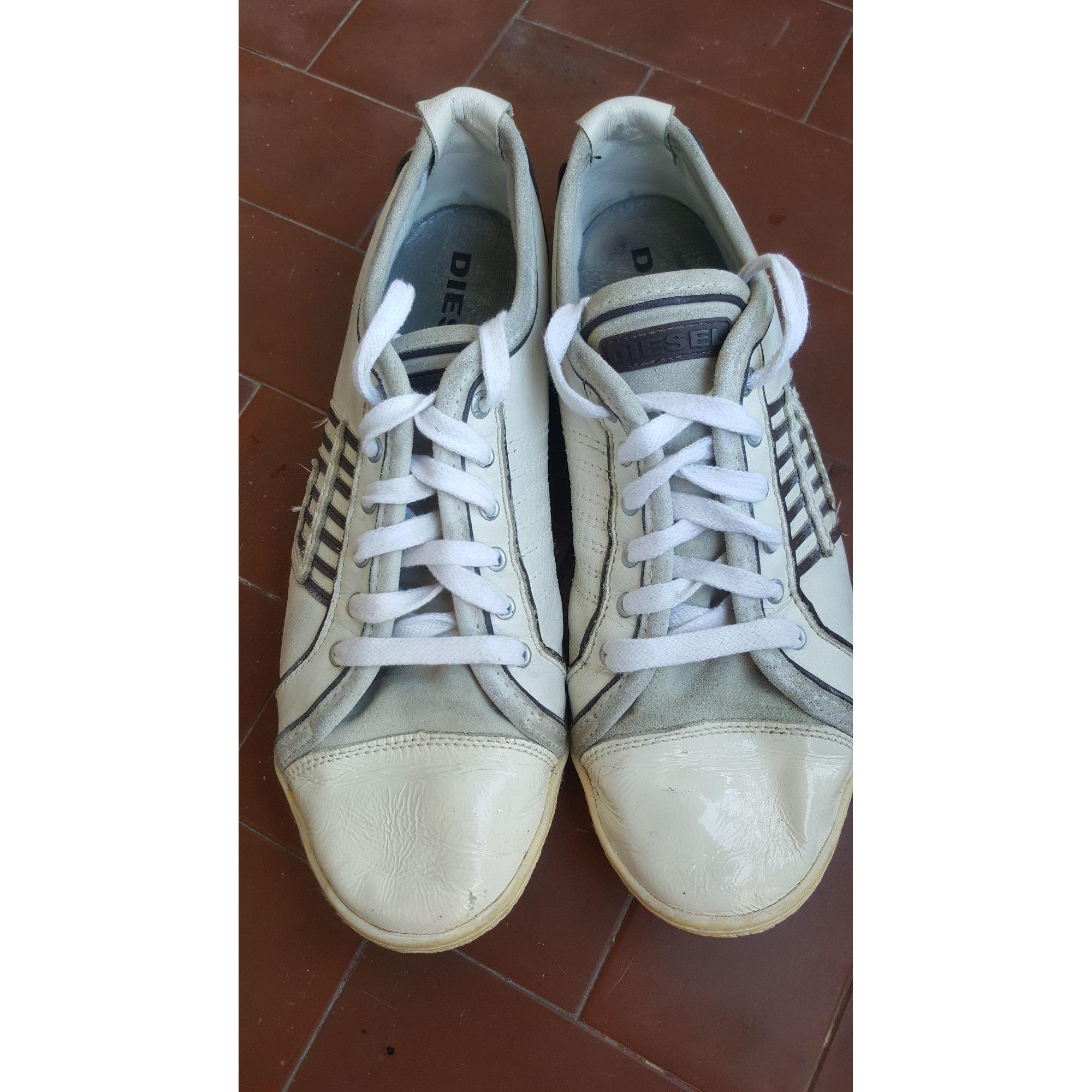 Baskets DIESEL Blanc, blanc cassé, écru