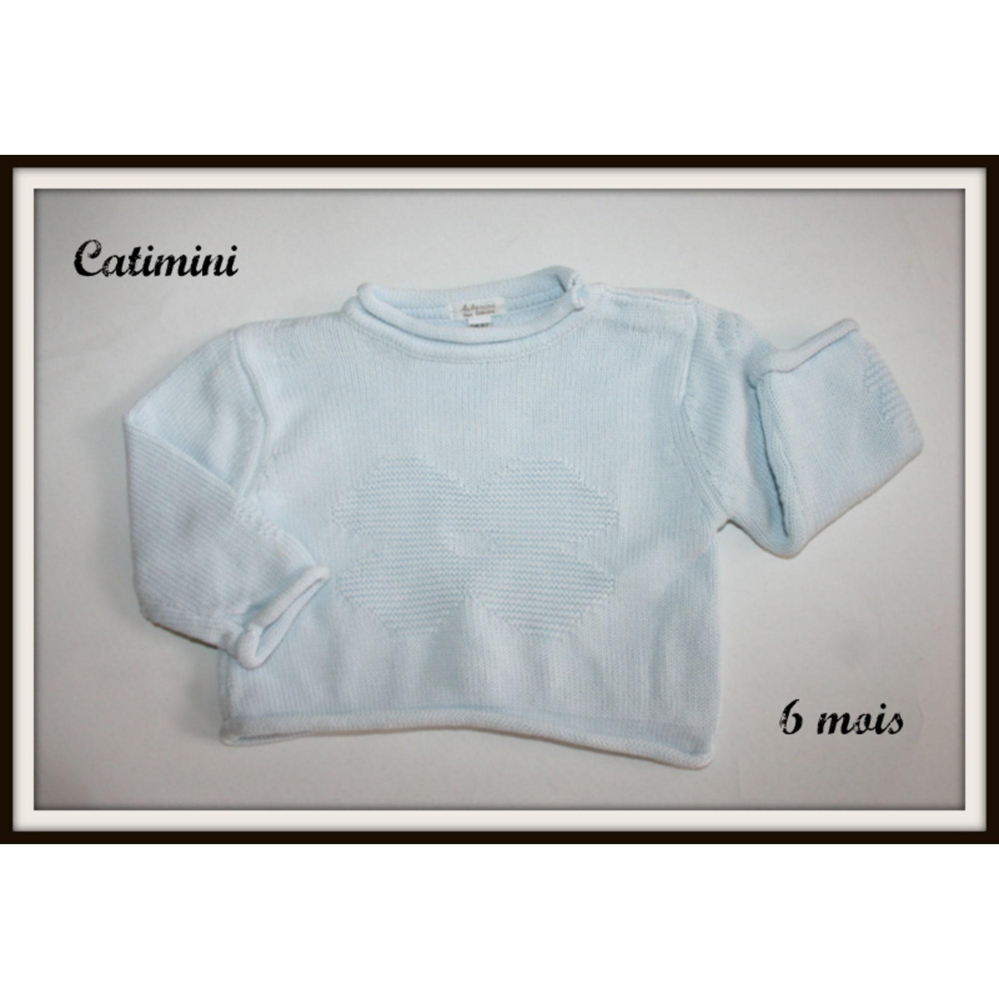 Pull CATIMINI Bleu, bleu marine, bleu turquoise