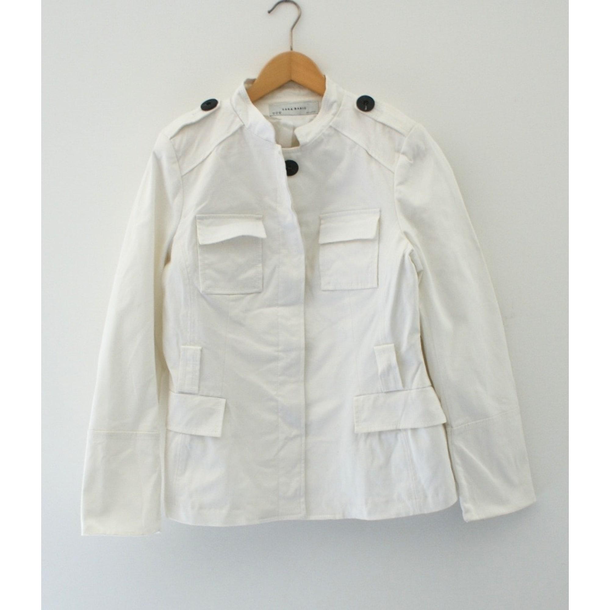 Veste ZARA Blanc, blanc cassé, écru