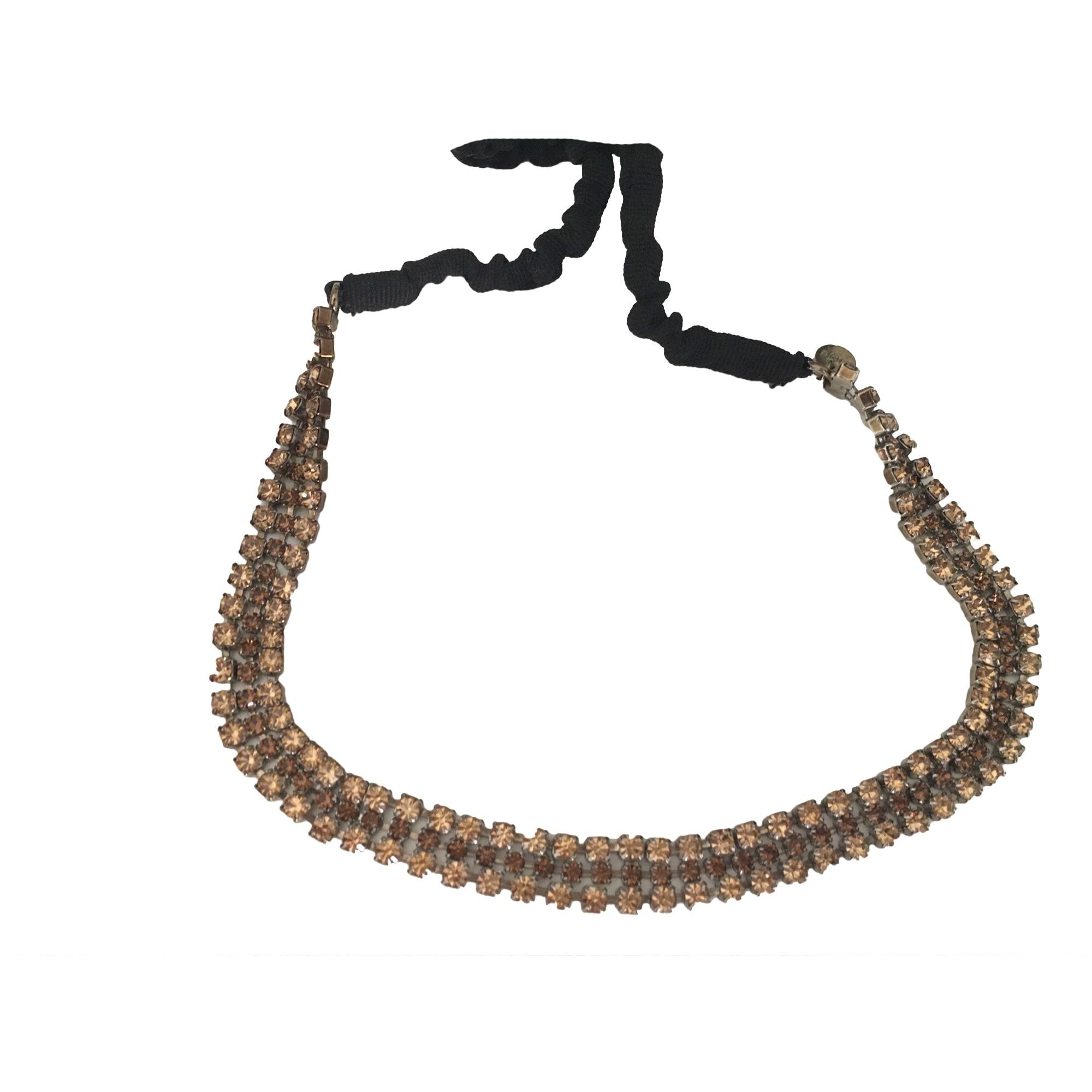 Headband MAJE Golden, bronze, copper