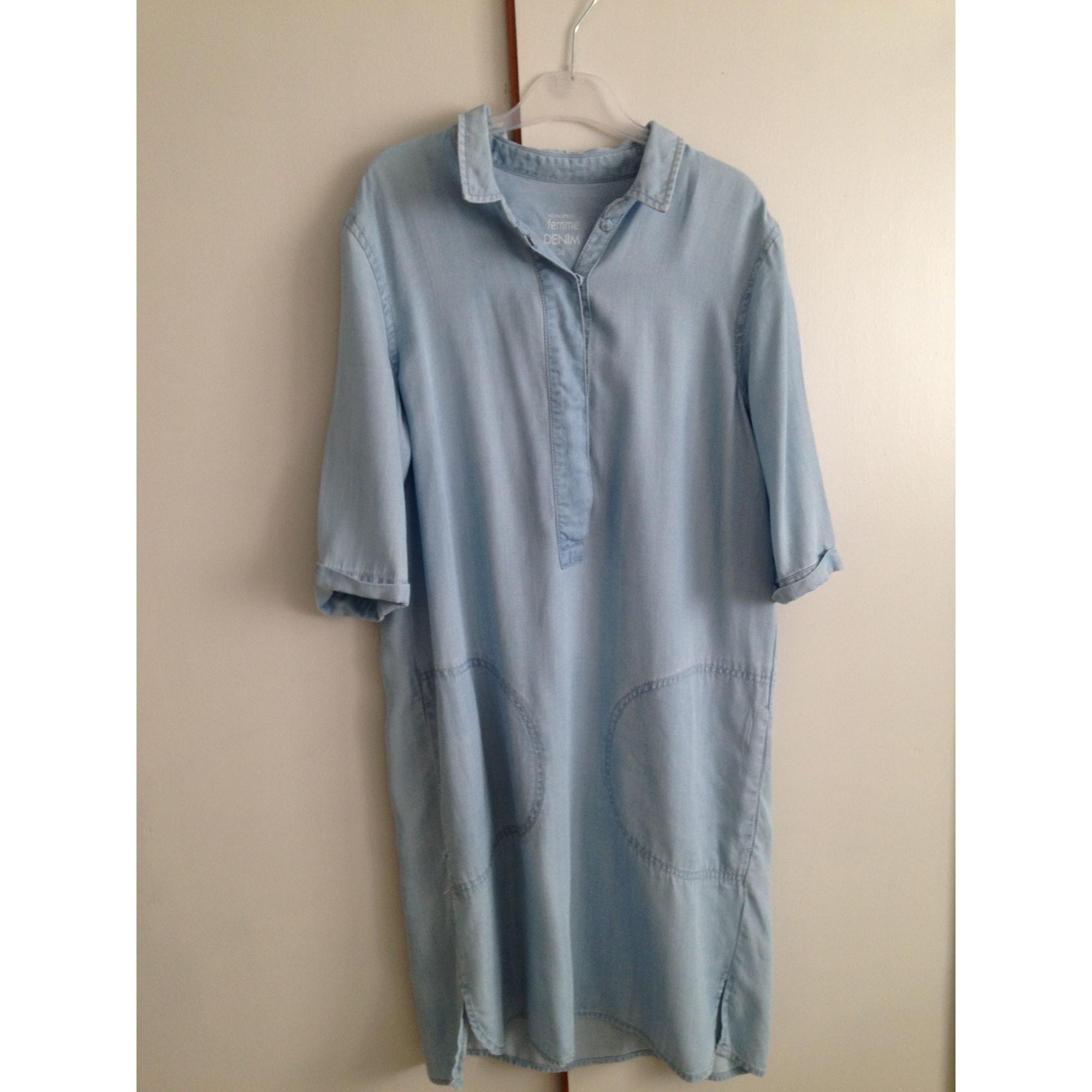 Robe en jeans MONOPRIX Bleu, bleu marine, bleu turquoise