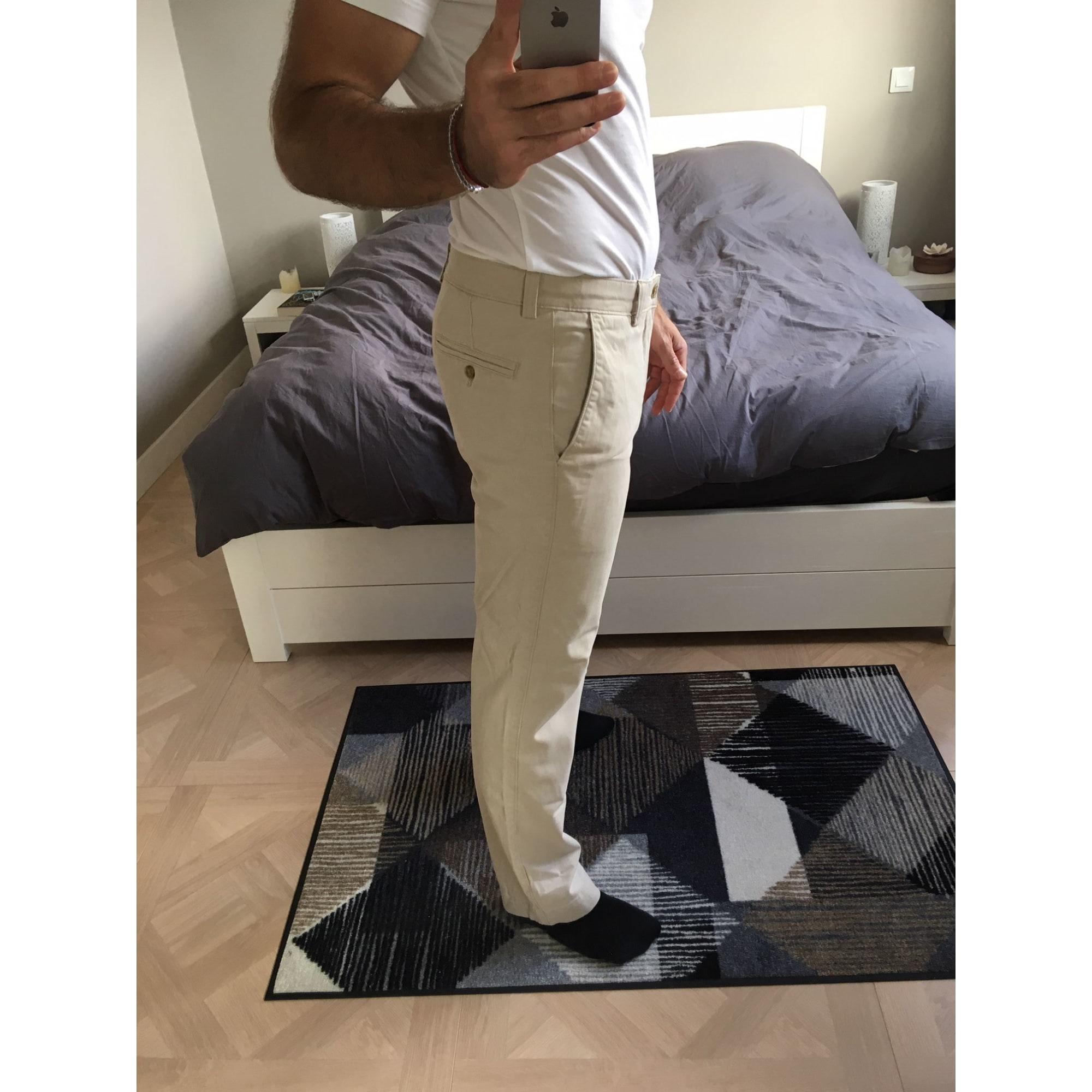 Pantalon droit DOCKERS Blanc, blanc cassé, écru