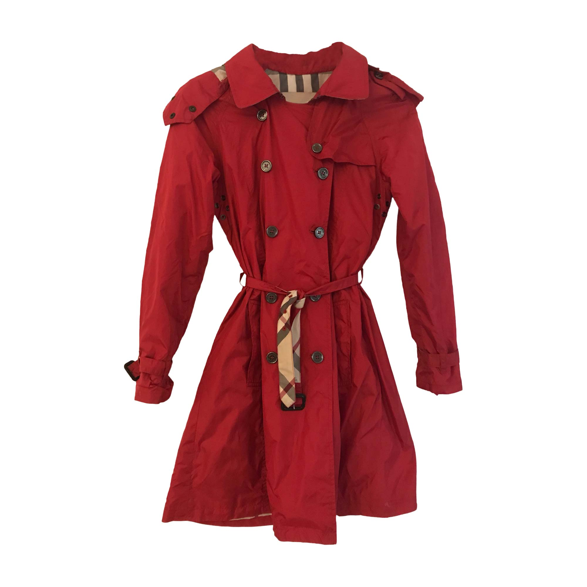 Imperméable, trench BURBERRY 34 (XS, T0) rouge 7983932