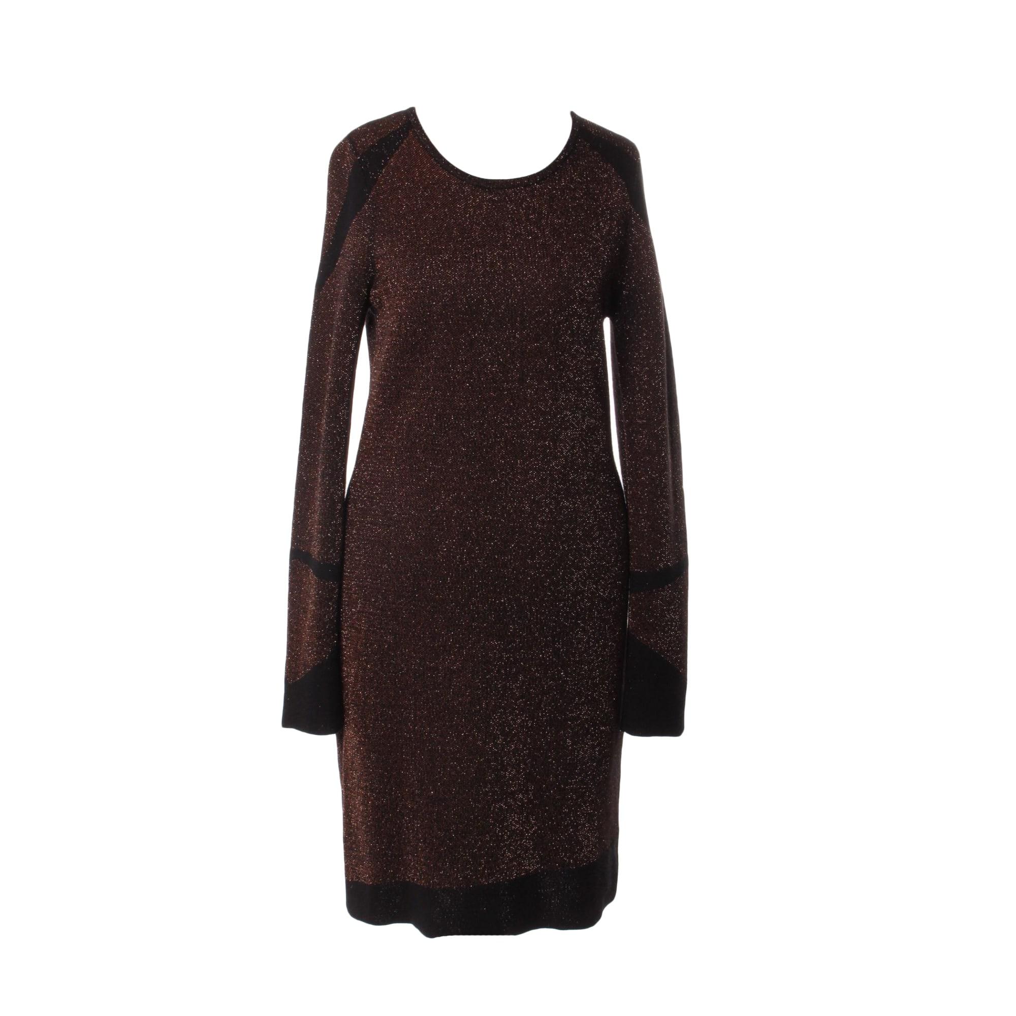 Robe mi-longue MAJE Doré, bronze, cuivre