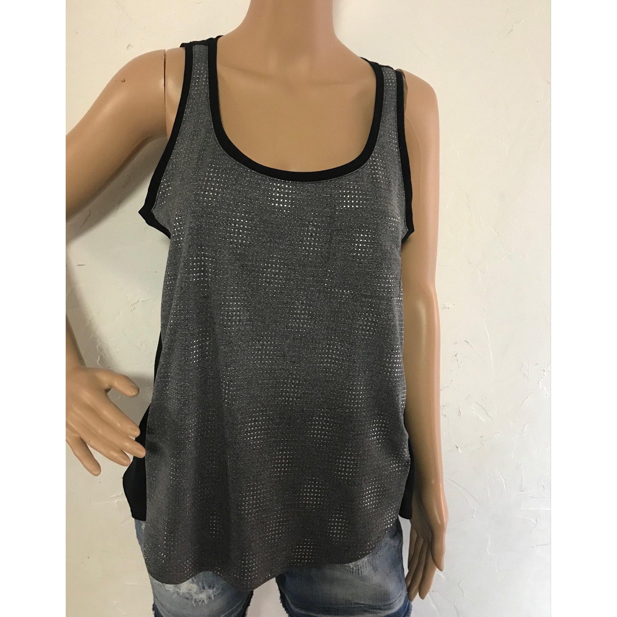 Top, tee-shirt CALVIN KLEIN Gris, anthracite