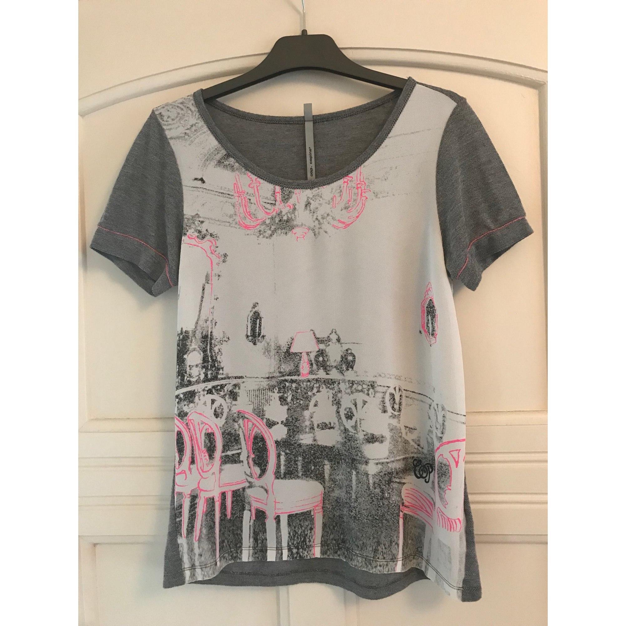 Top, tee-shirt COP-COPINE Gris, anthracite