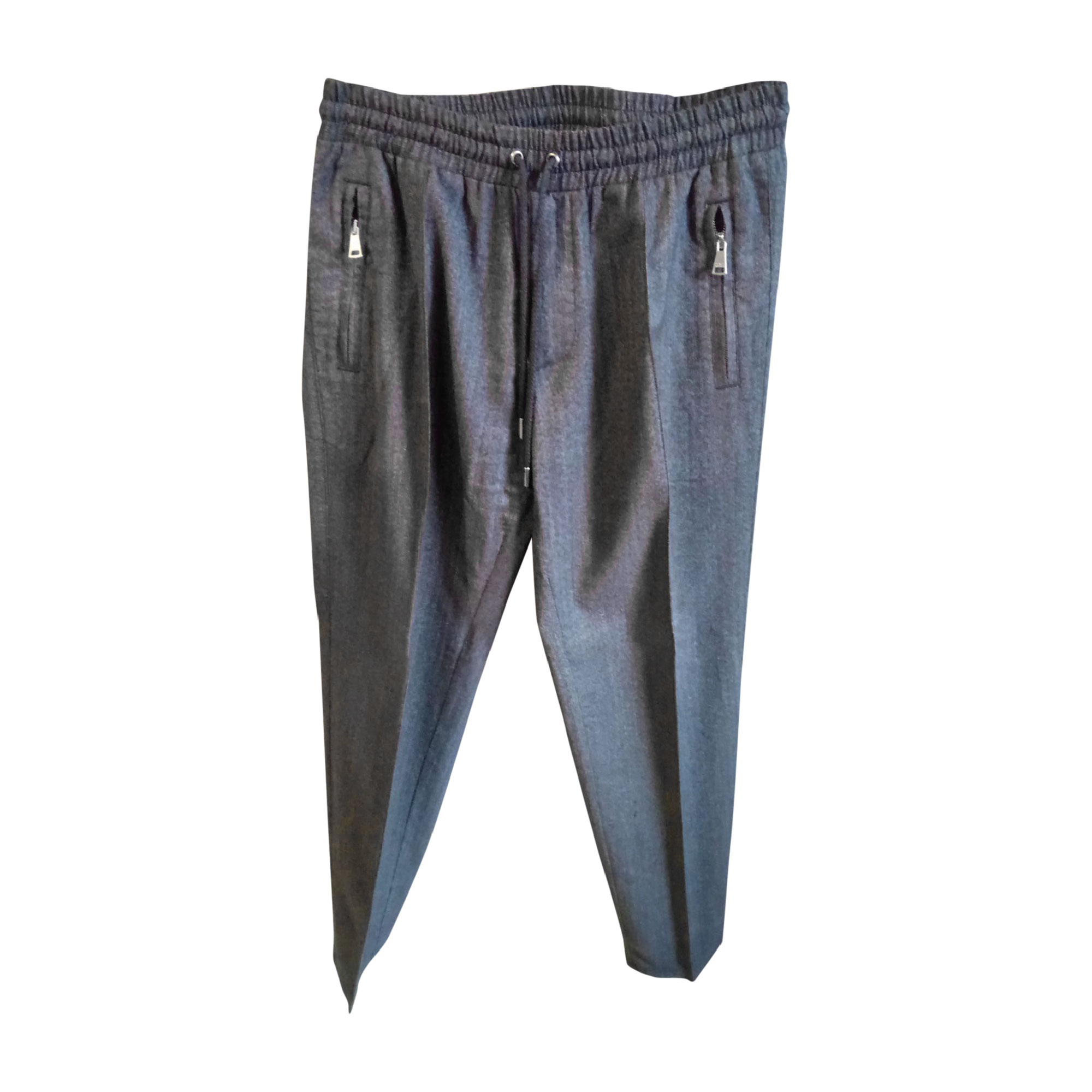 Pantalon large DOLCE & GABBANA Gris, anthracite