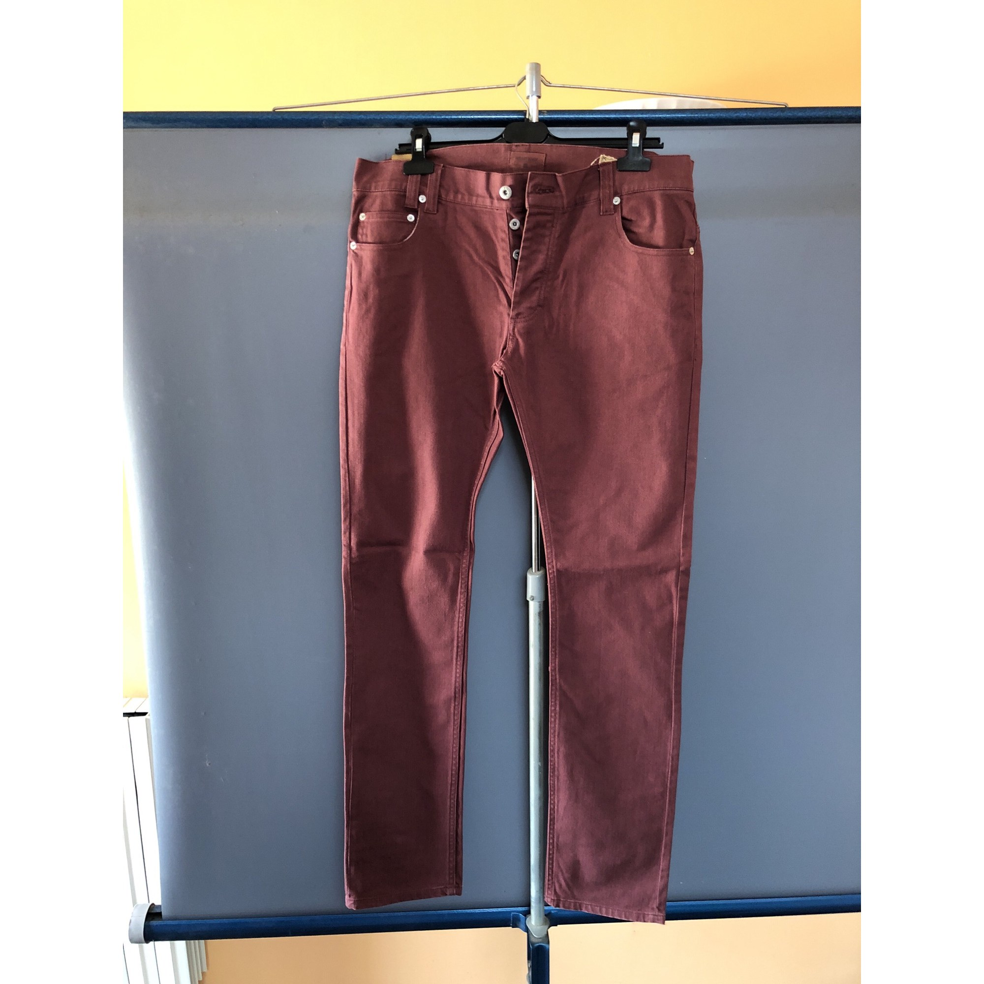 Jeans slim INSIGHT Rouge, bordeaux