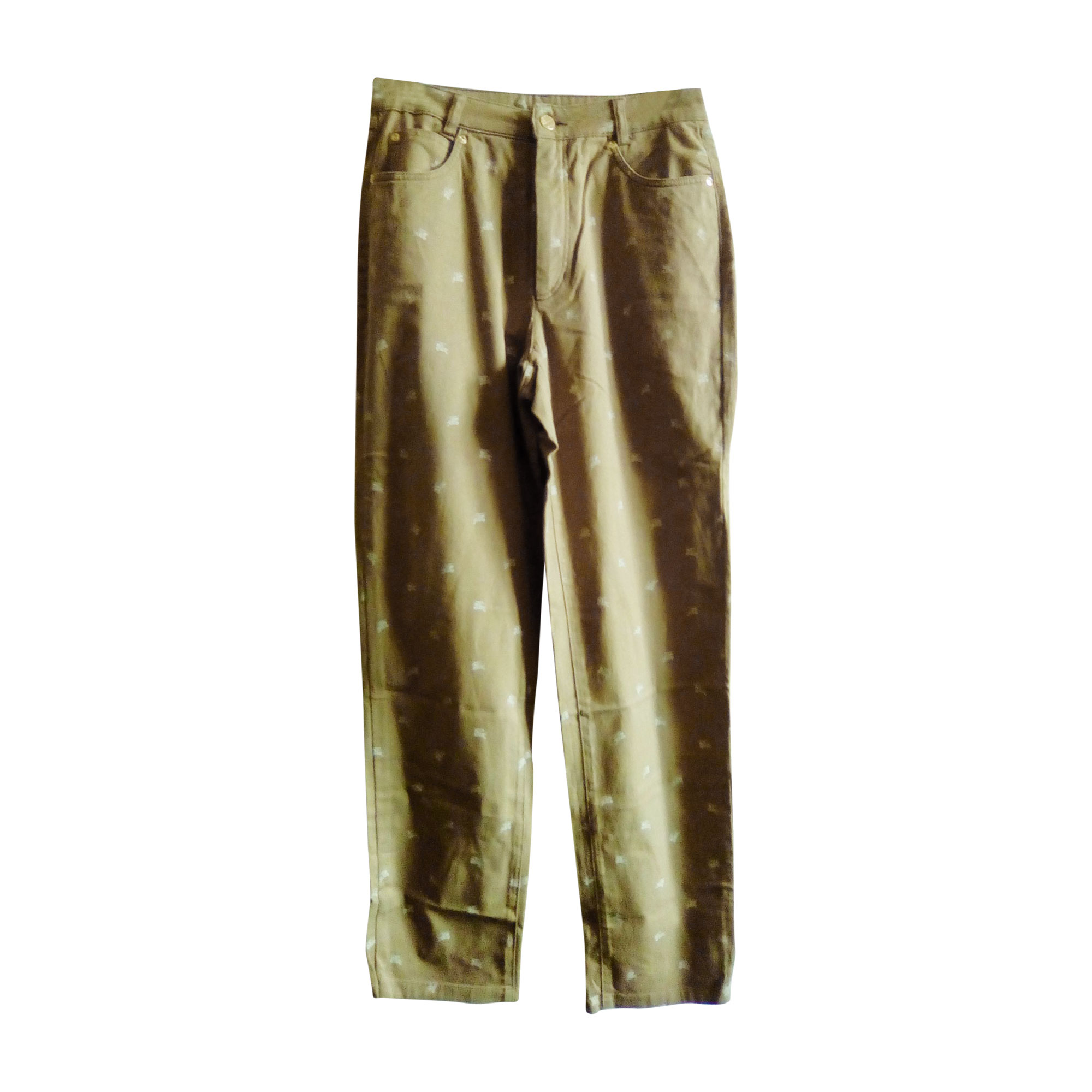 Pantalon droit BURBERRY Marron