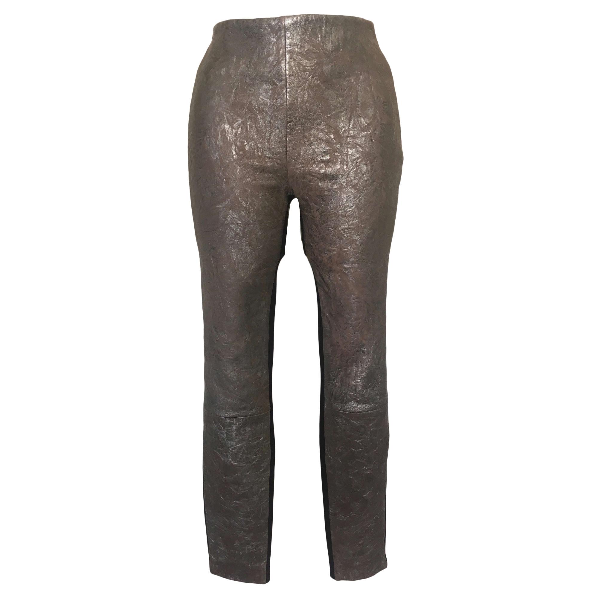 Pantalon slim, cigarette CATHERINE MALANDRINO Argenté, acier