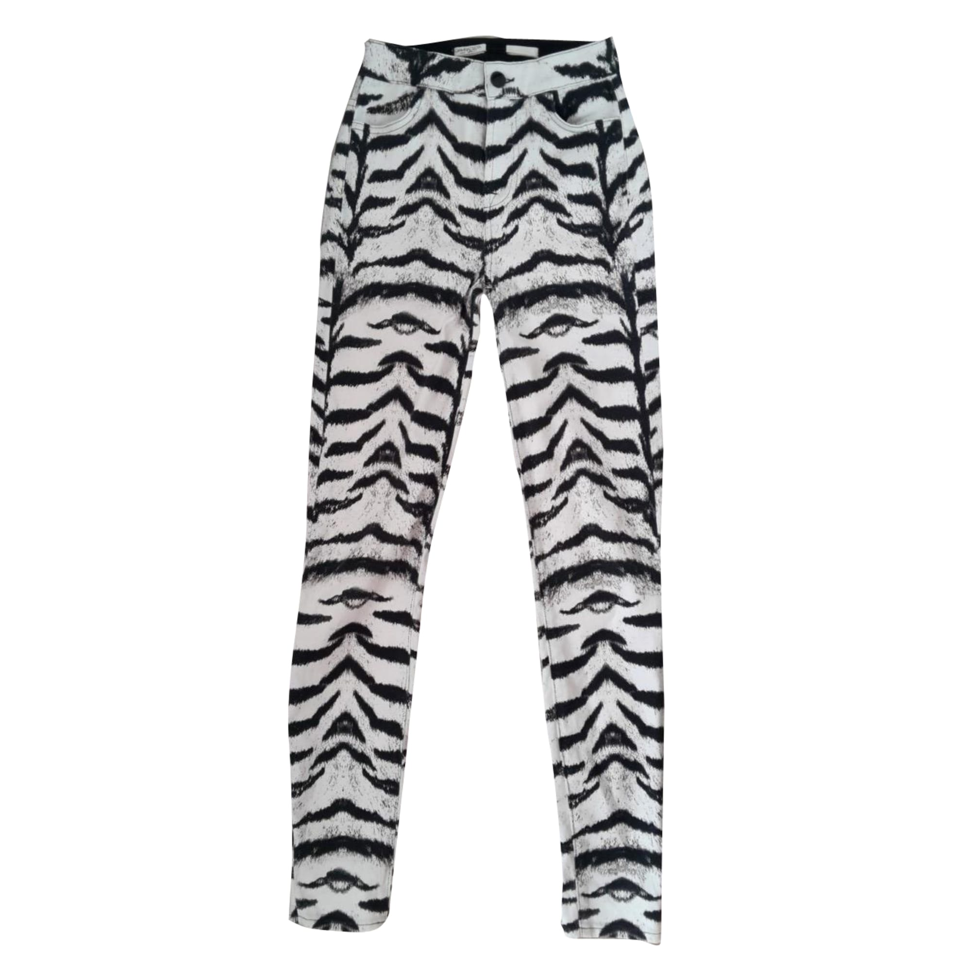 Pantalon slim, cigarette 7 FOR ALL MANKIND Imprimés animaliers