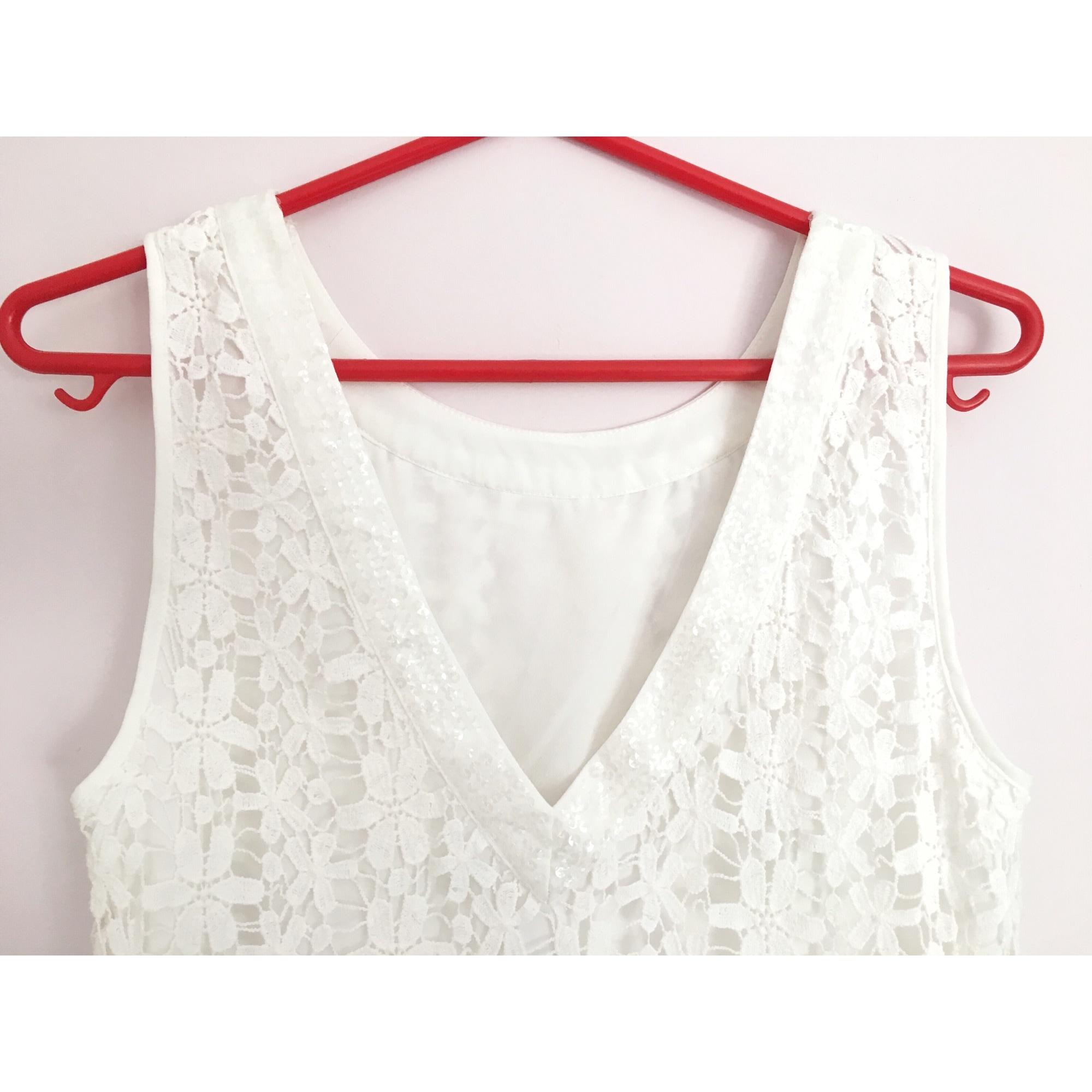 Robe mi-longue SUD EXPRESS Blanc, blanc cassé, écru