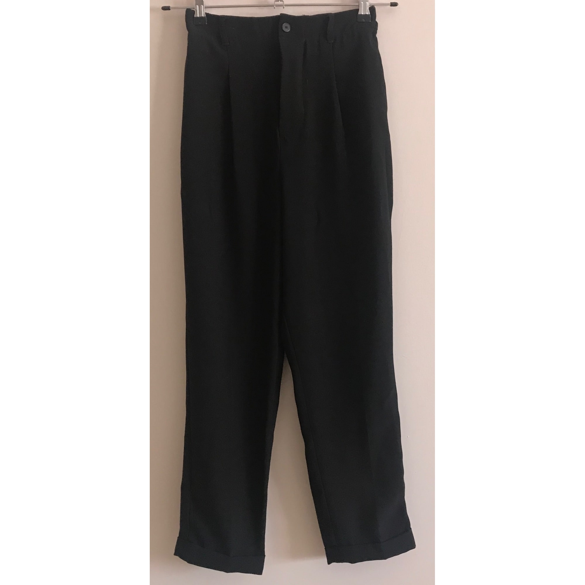 Pantalon carotte ZARA Noir