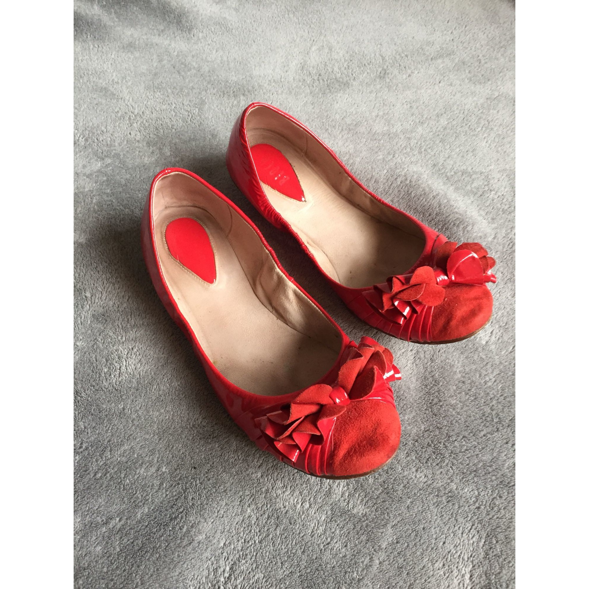 Ballerines BLOCH Rouge, bordeaux