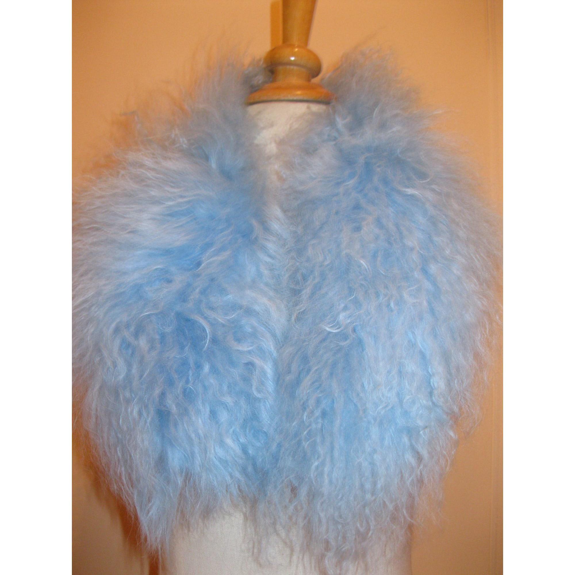 Etole ARTISAN FOURREUR Bleu, bleu marine, bleu turquoise