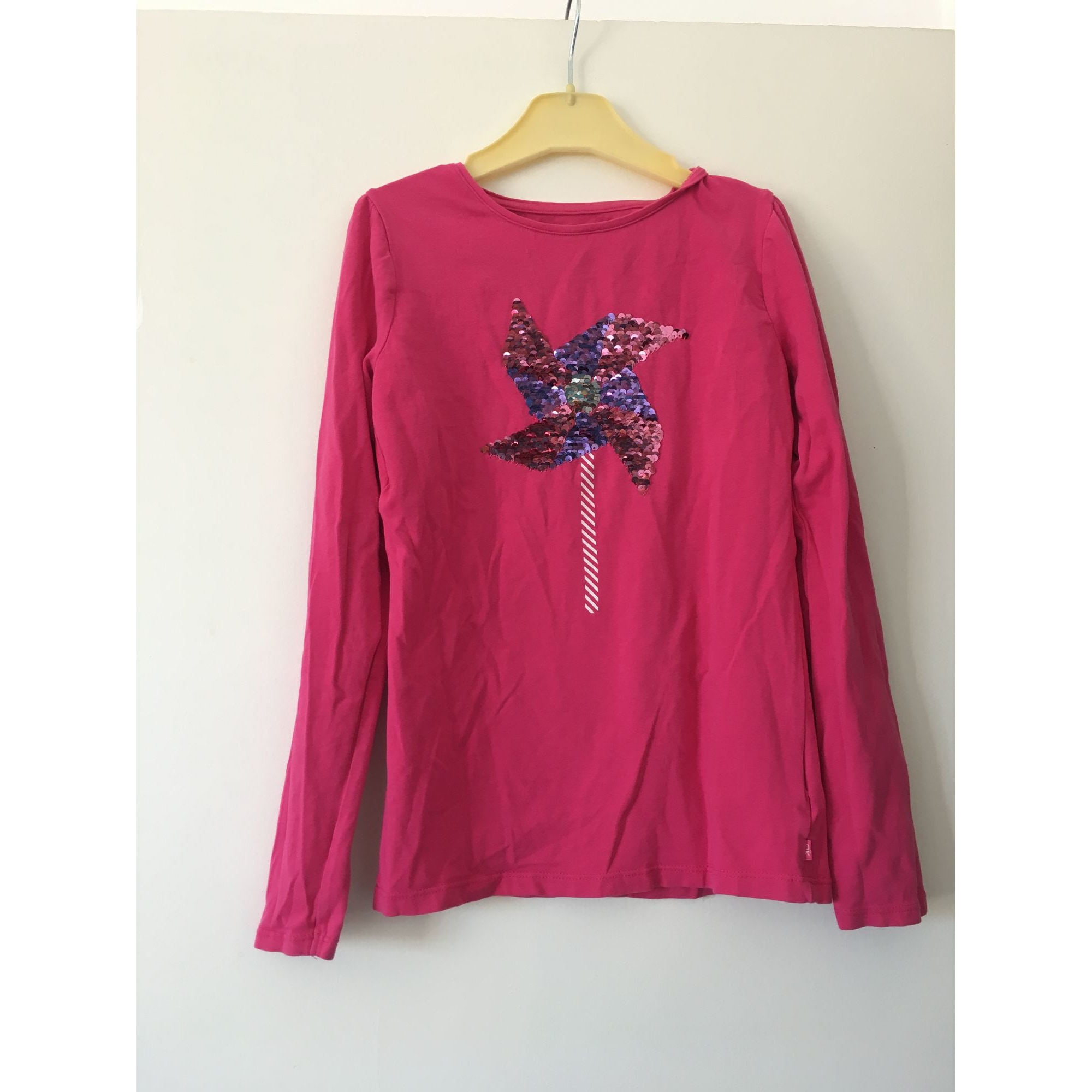 Top, Tee-shirt OKAÏDI Rose, fuschia, vieux rose