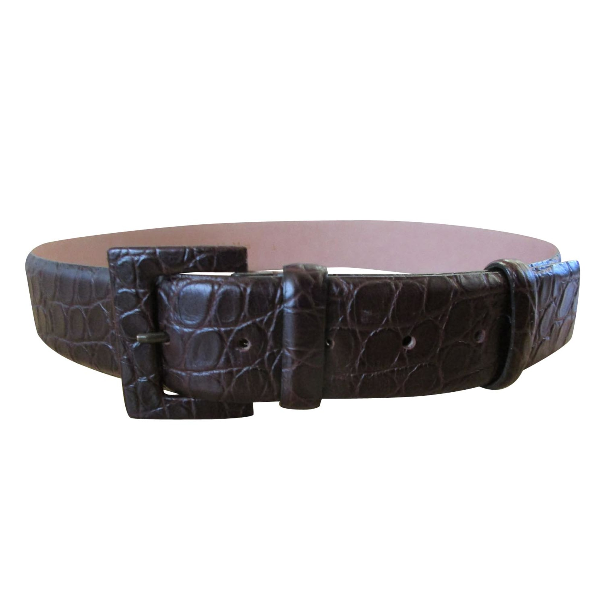 Ceinture large MAX MARA Marron