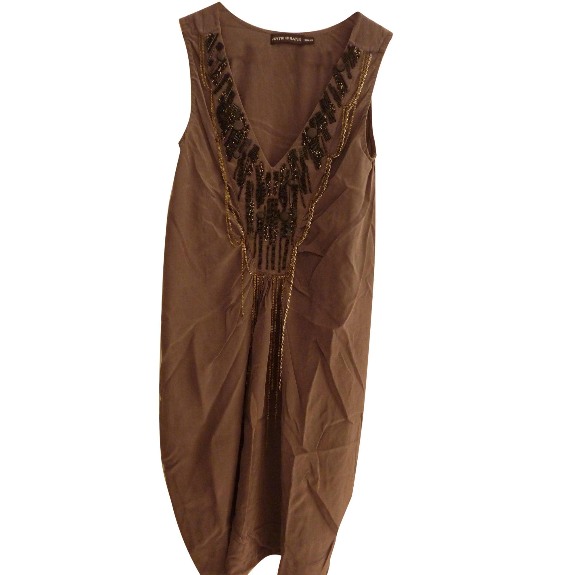 Robe mi-longue ANTIK BATIK Gris, anthracite