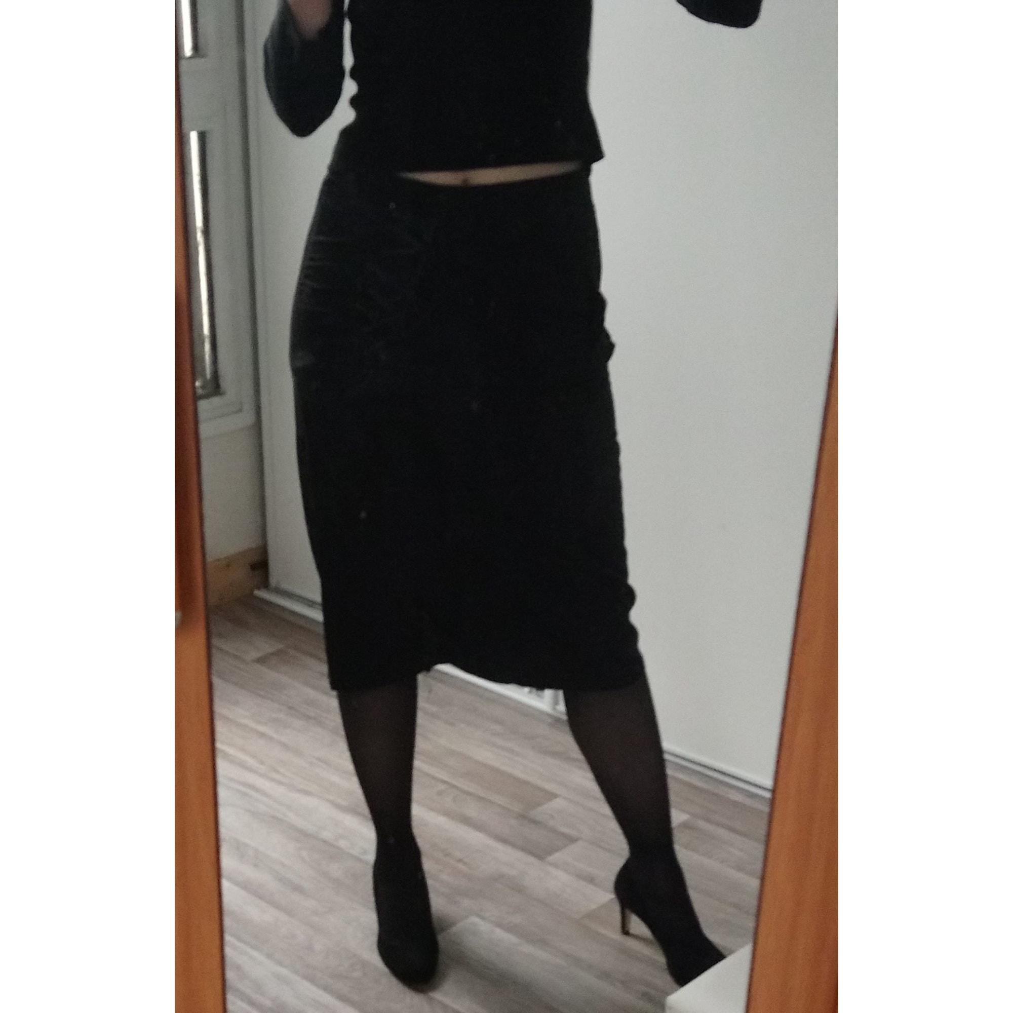 Jupe mi-longue MARQUE INCONNUE Noir