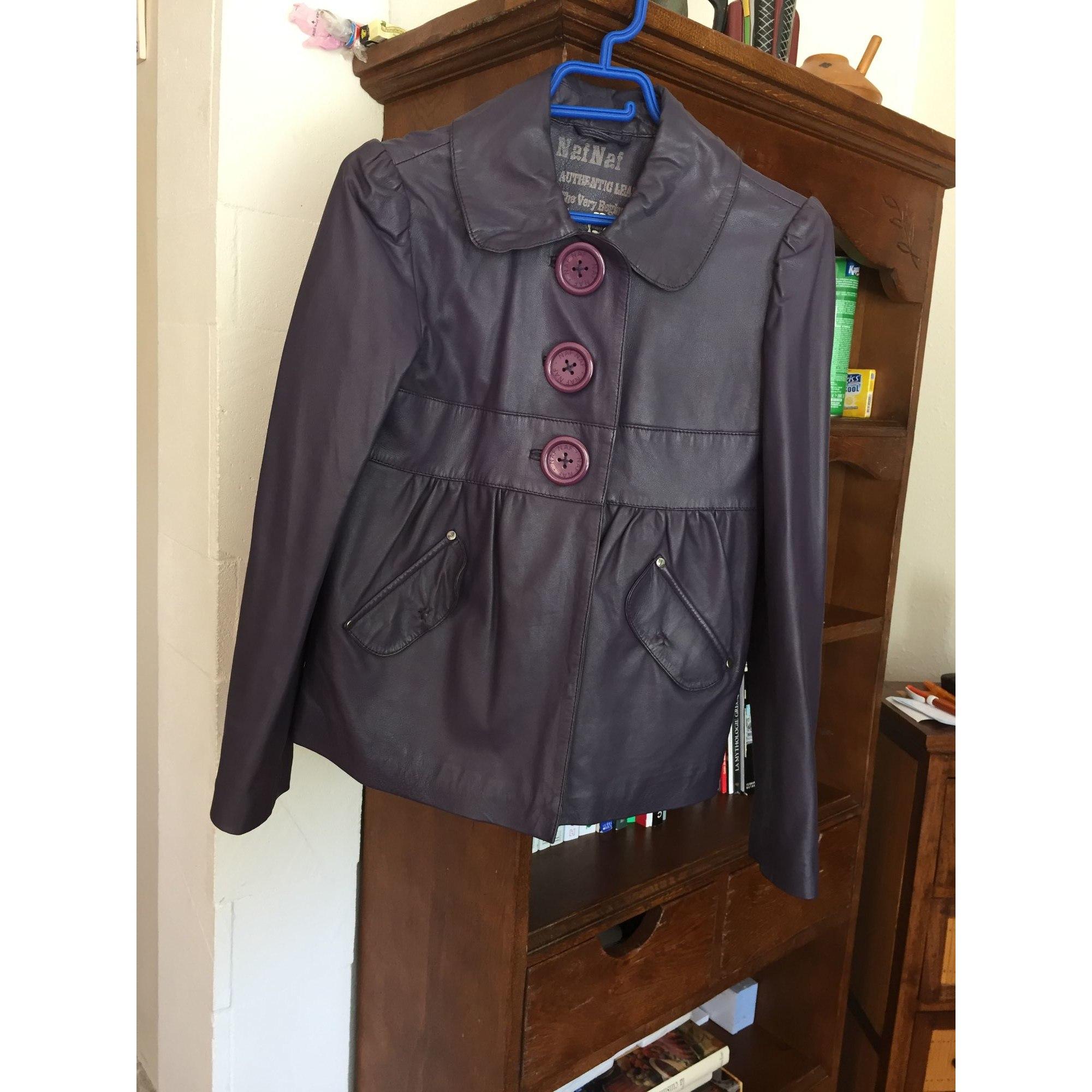 Blazer, veste tailleur NAF NAF Violet, mauve, lavande