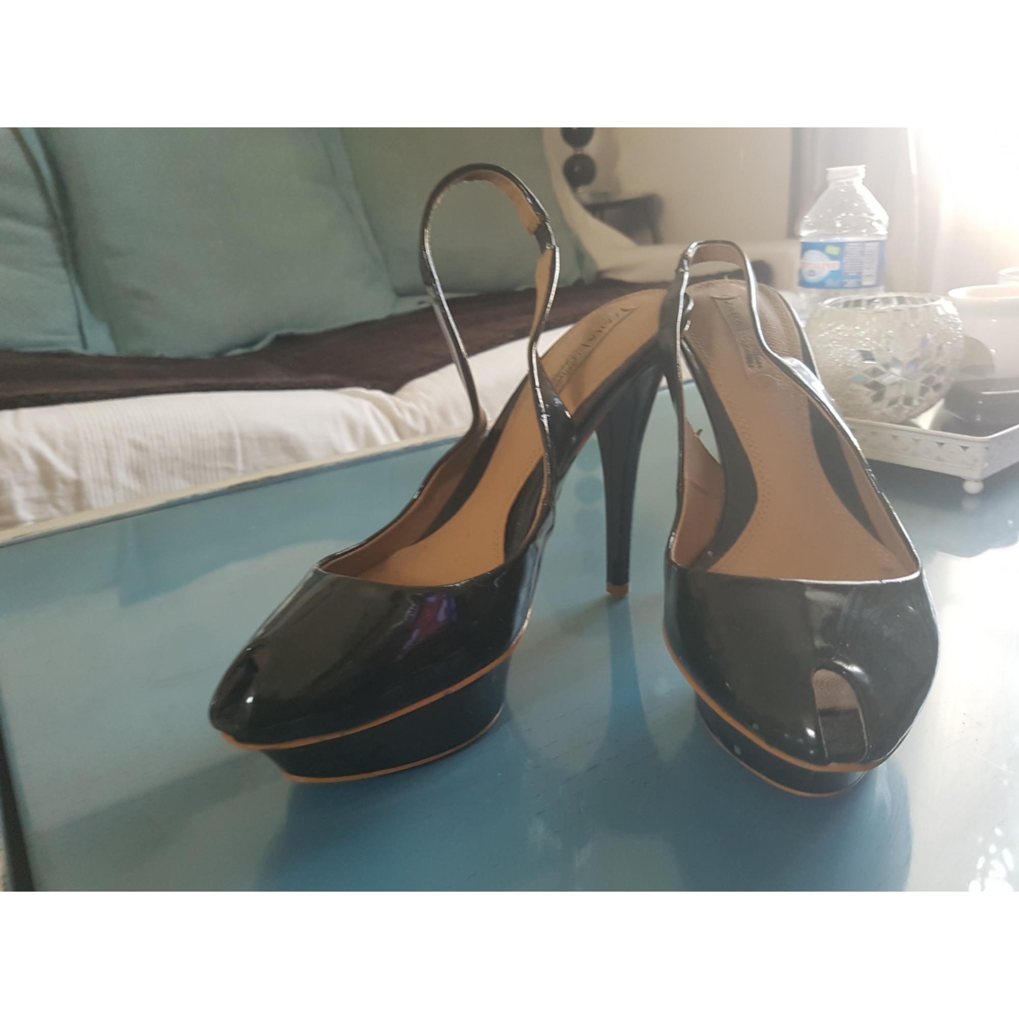 Sandales à talons ZARA Vert