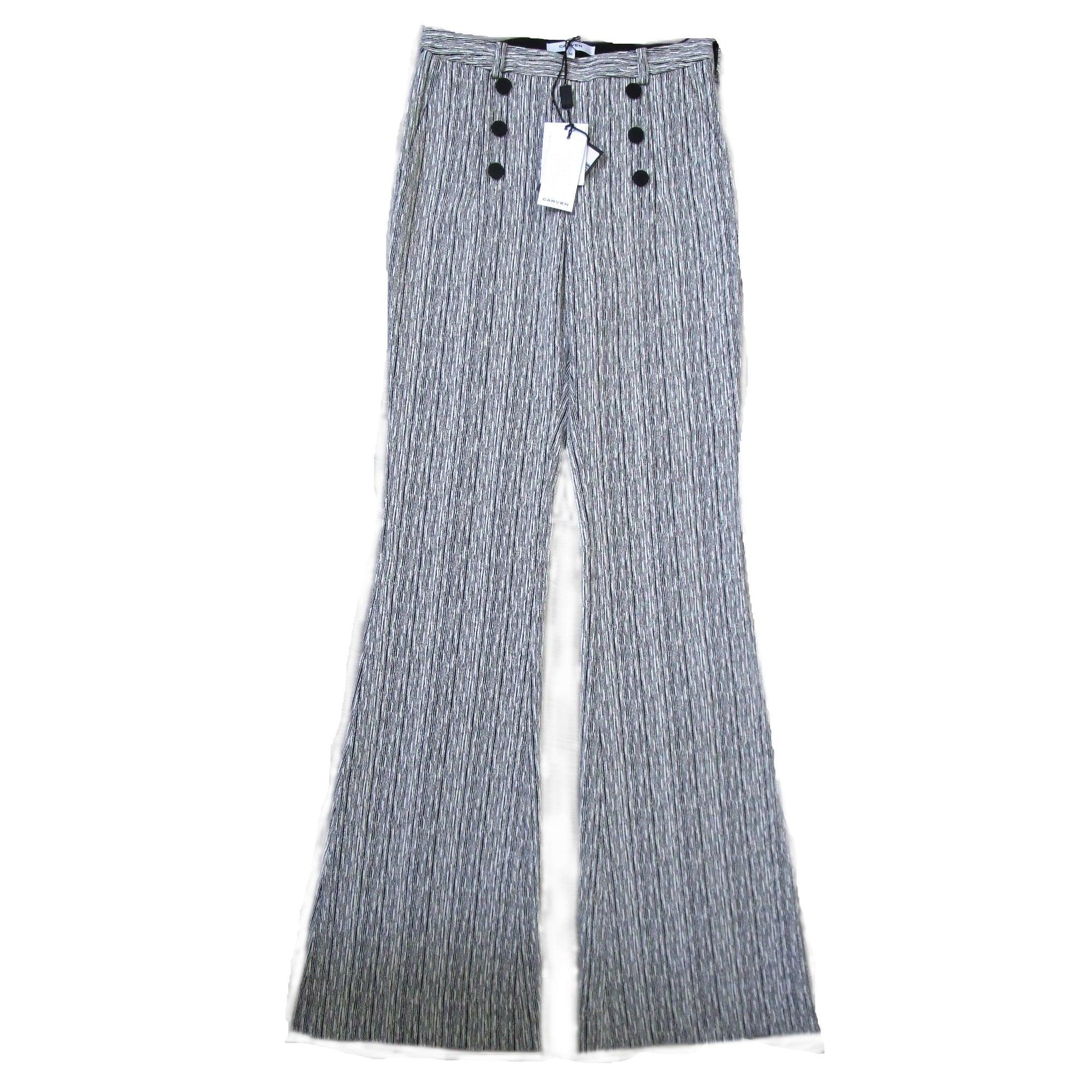 Pantalon large CARVEN Gris, anthracite