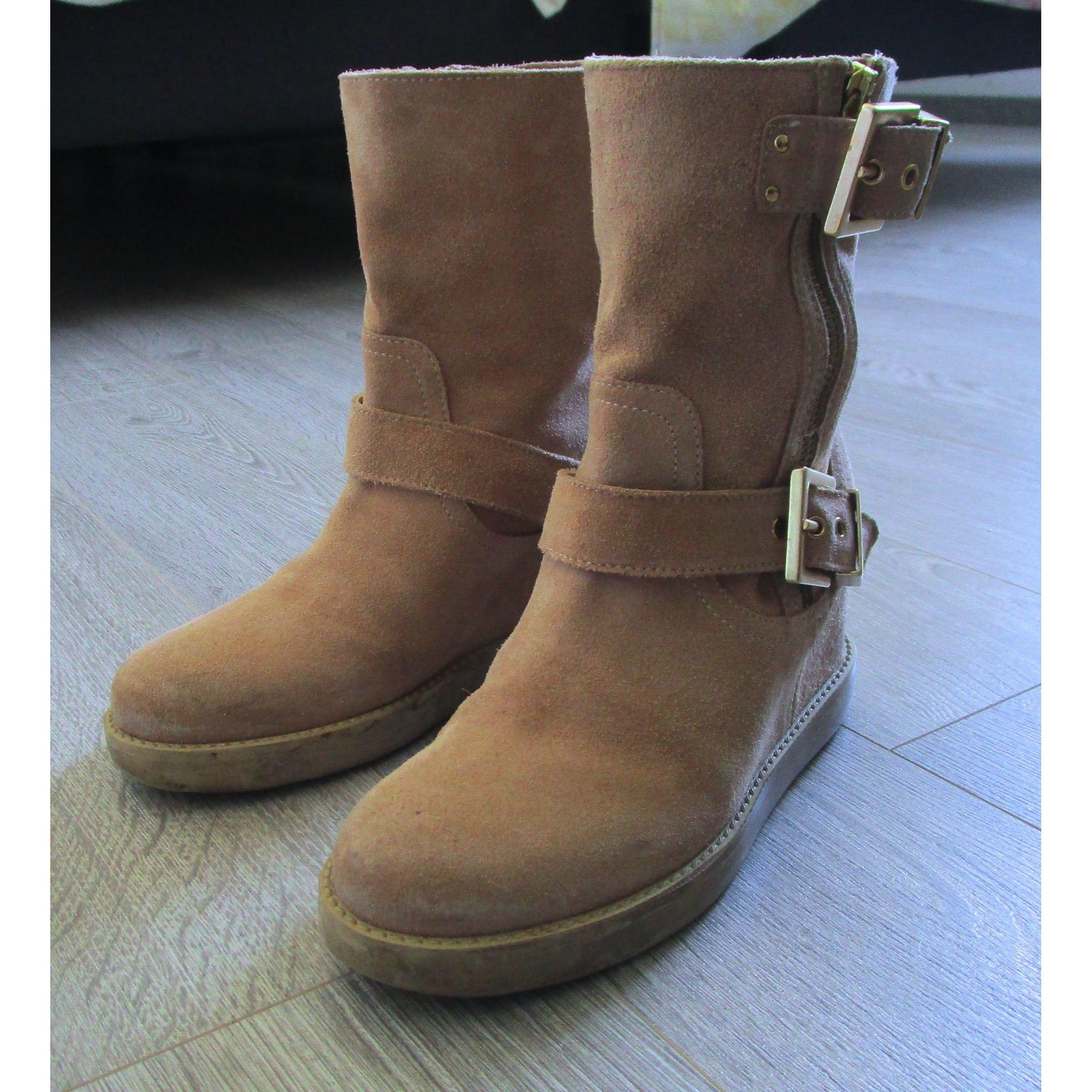 Bottines & low boots à compensés TWIN-SET SIMONA BARBIERI Beige, camel