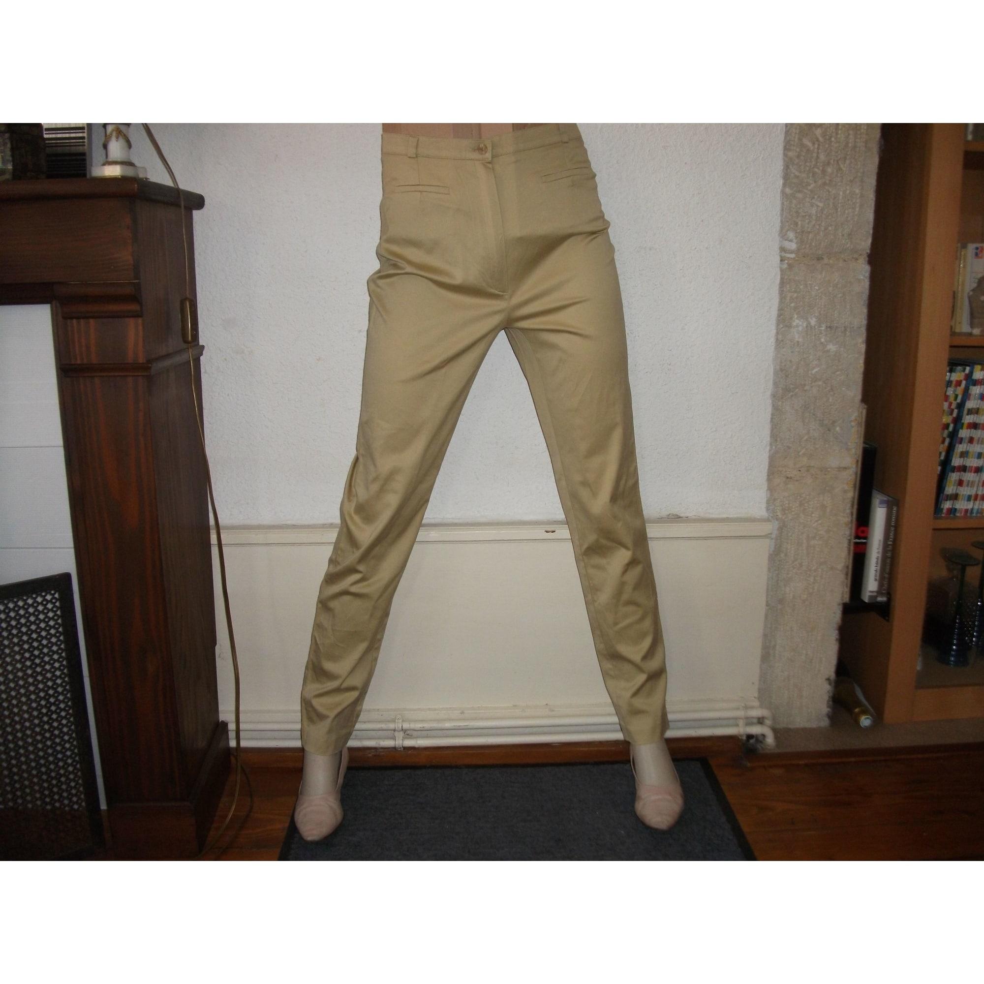 Pantalon slim, cigarette 22 OCTOBRE DE STRELLI Doré, bronze, cuivre