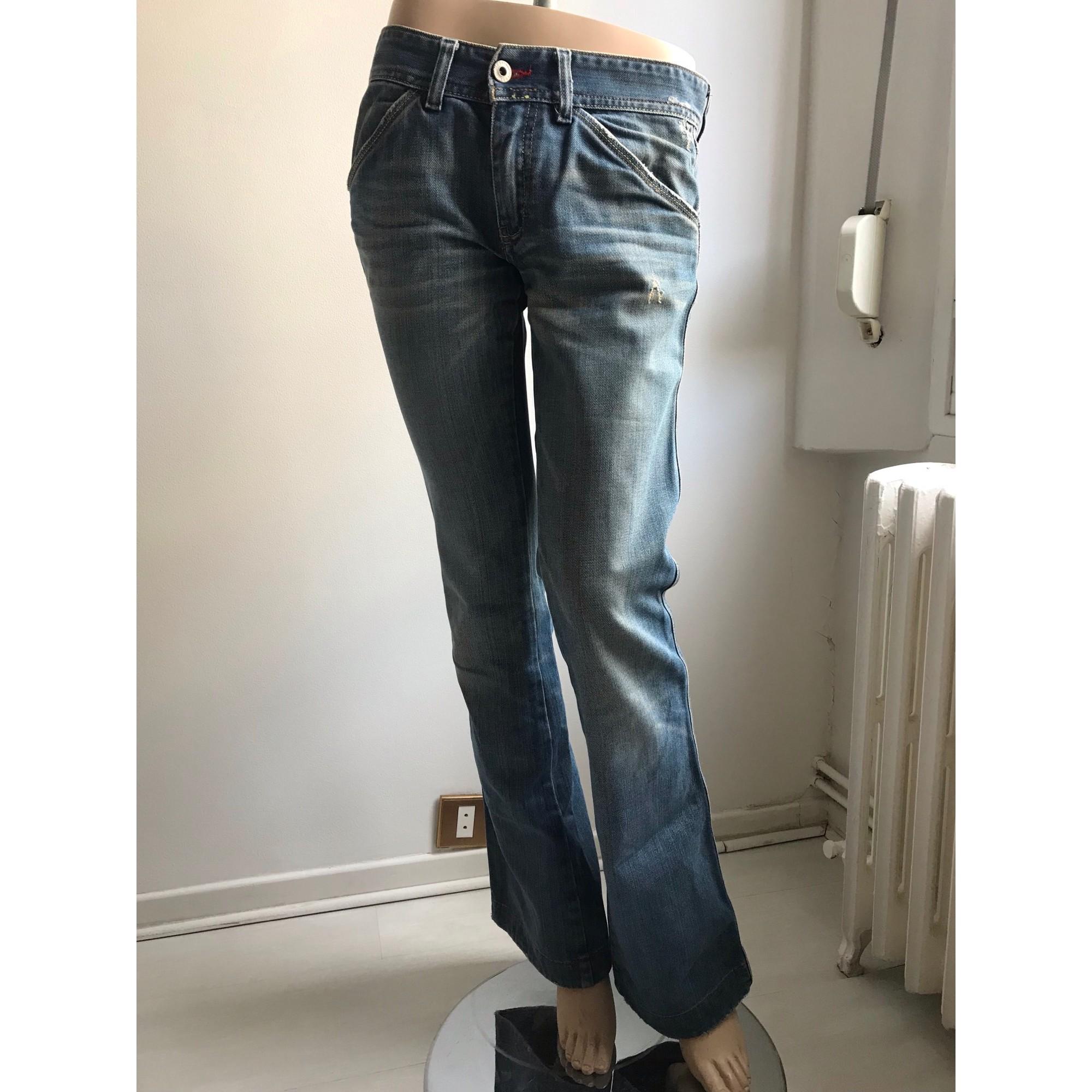 Jeans évasé, boot-cut DIESEL Bleu, bleu marine, bleu turquoise