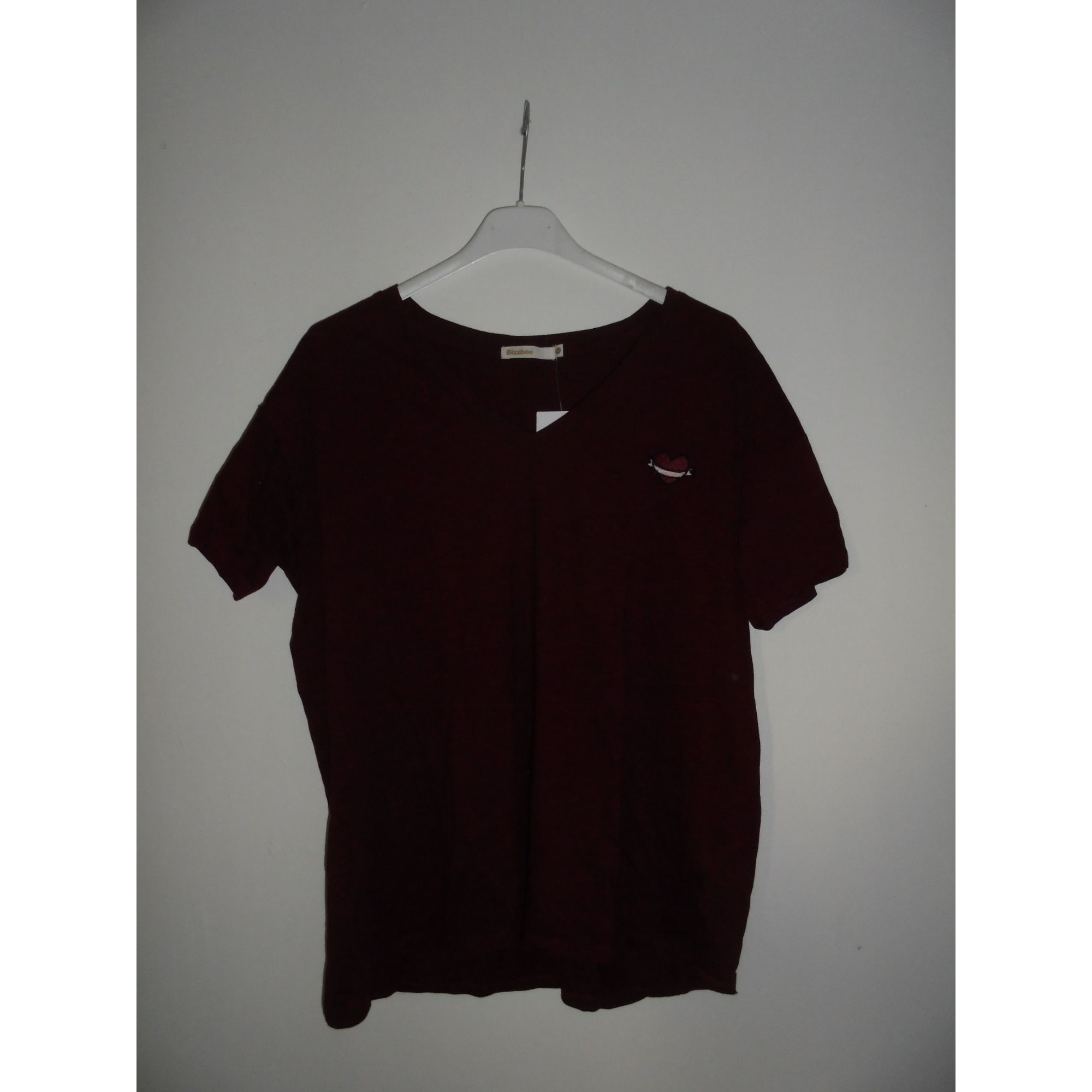 Top, tee-shirt JENNYFER Rouge, bordeaux